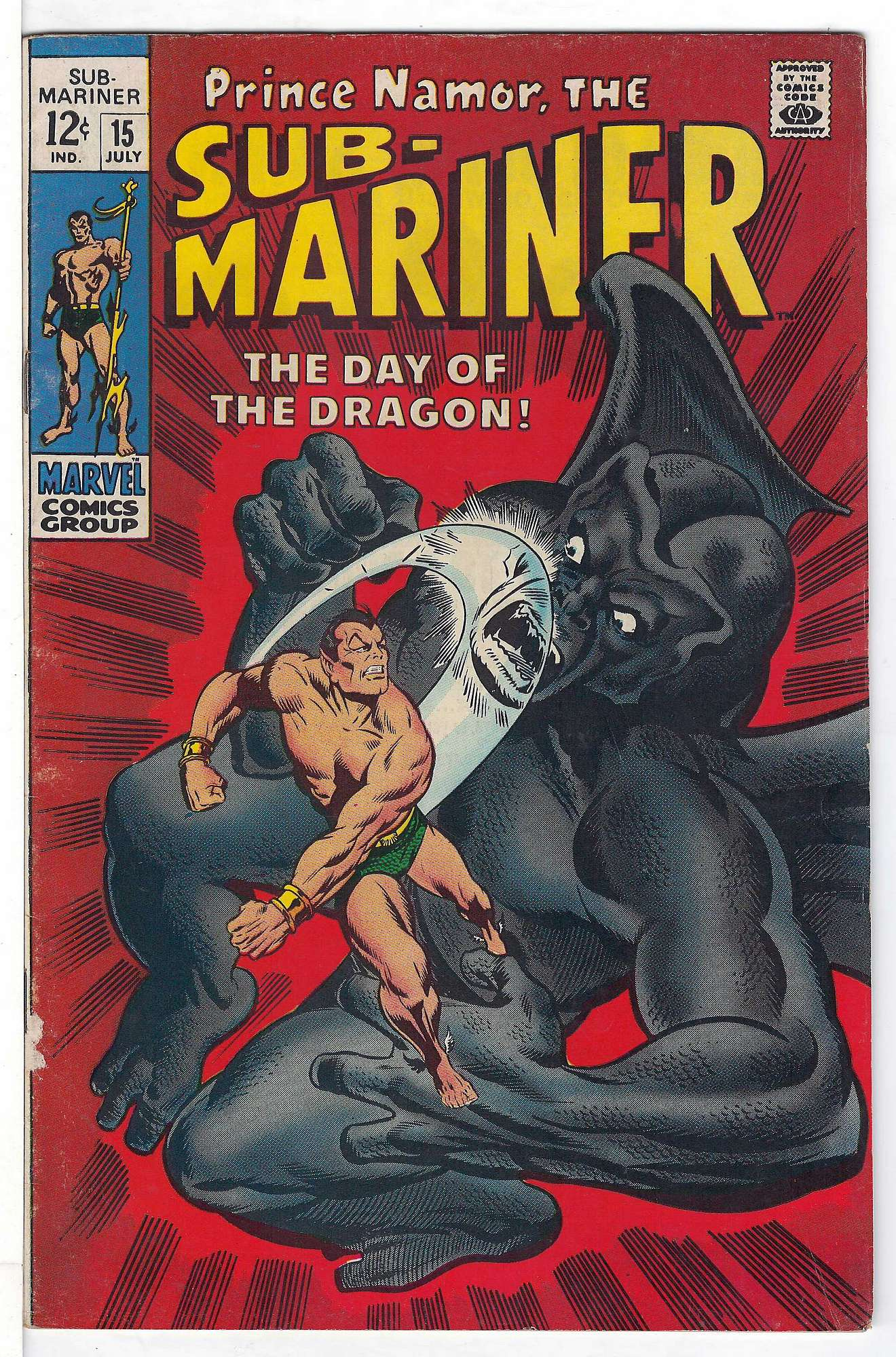 Cover of Sub-Mariner (Vol 1) #15. One of 250,000 Vintage American Comics on sale from Krypton!