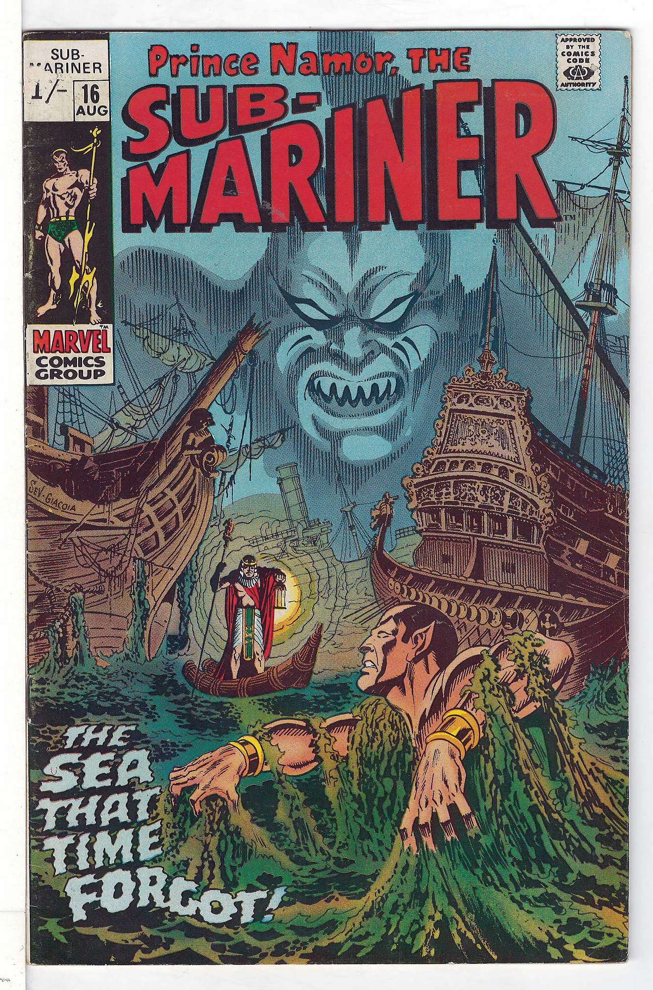 Cover of Sub-Mariner (Vol 1) #16. One of 250,000 Vintage American Comics on sale from Krypton!