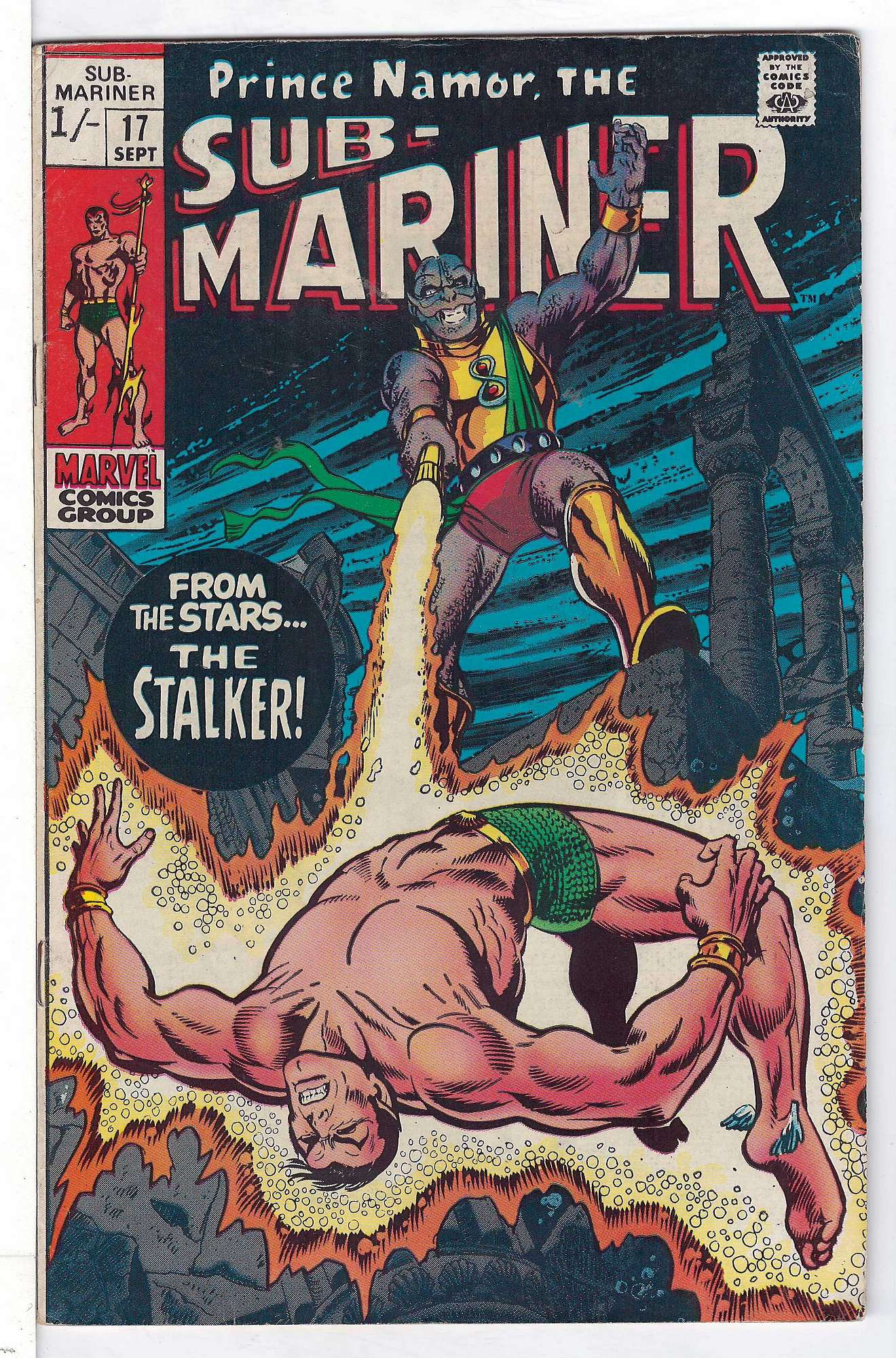 Cover of Sub-Mariner (Vol 1) #17. One of 250,000 Vintage American Comics on sale from Krypton!