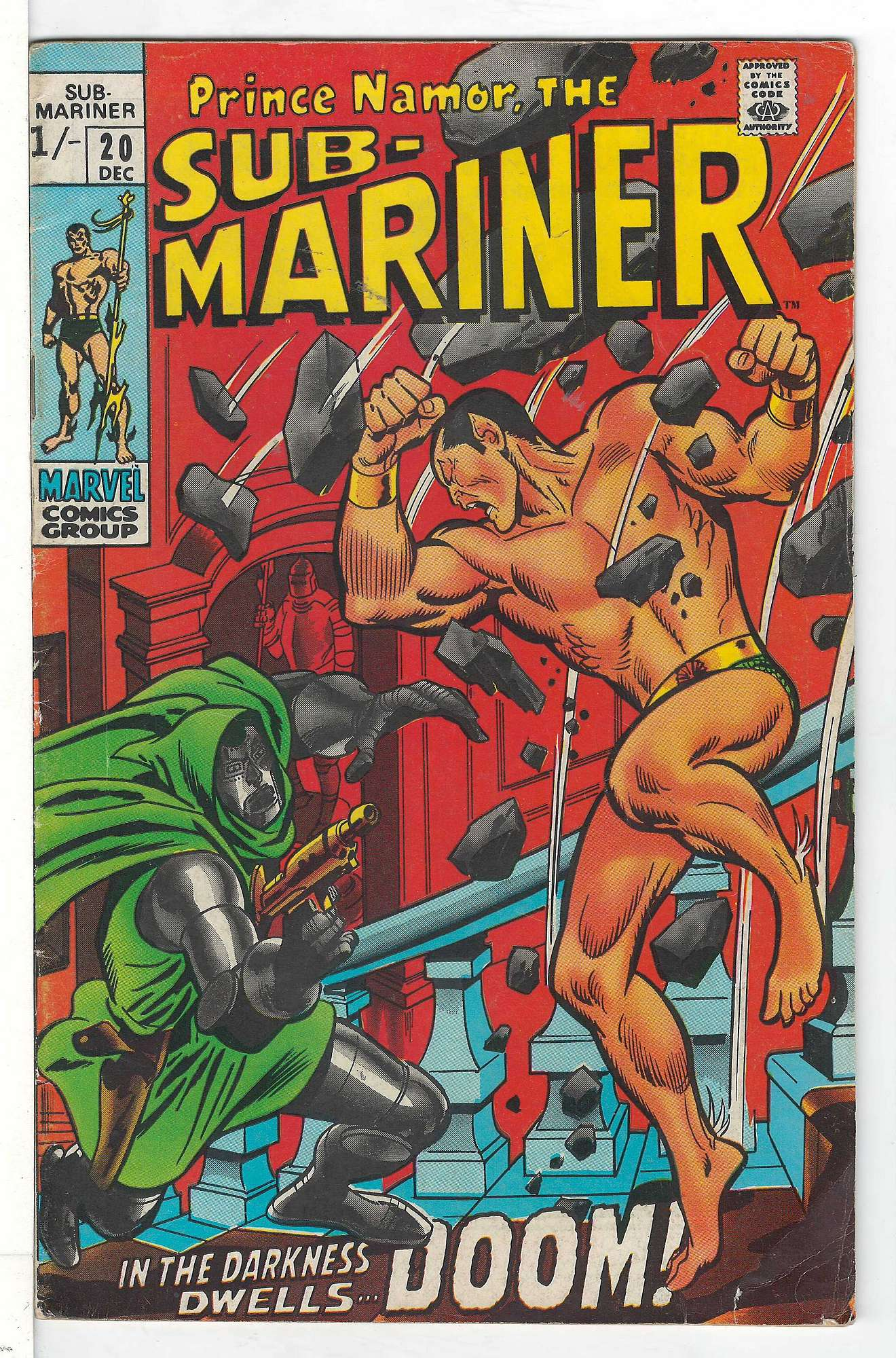 Cover of Sub-Mariner (Vol 1) #20. One of 250,000 Vintage American Comics on sale from Krypton!