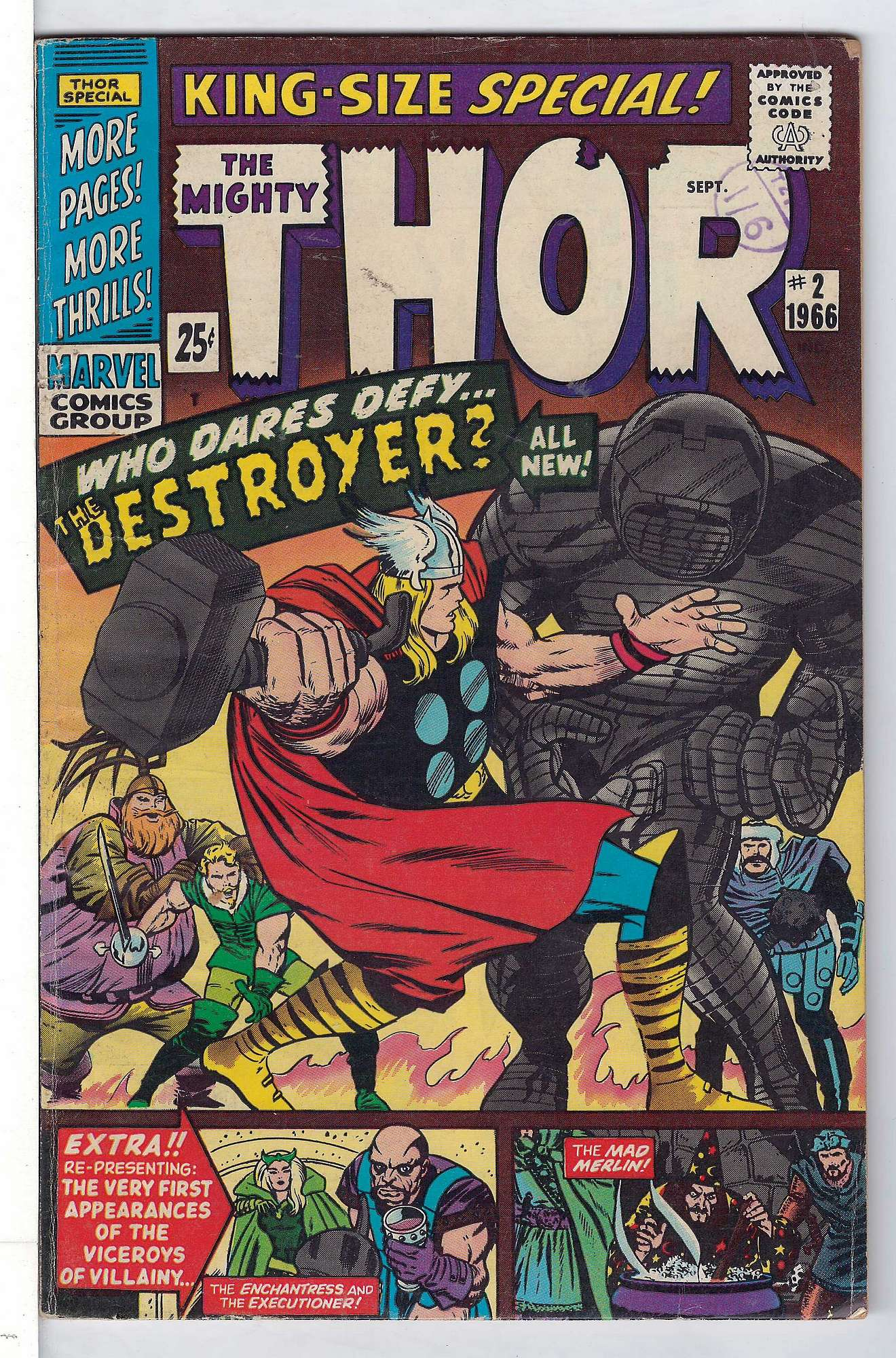 Cover of Thor Annual (Vol 1) #2. One of 250,000 Vintage American Comics on sale from Krypton!