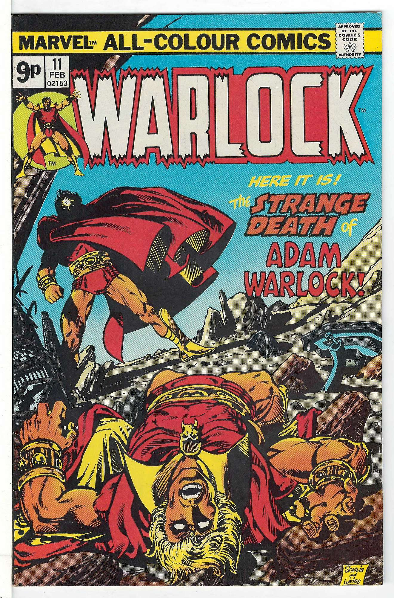 Cover of Warlock (Vol 1) The Power of #11. One of 250,000 Vintage American Comics on sale from Krypton!
