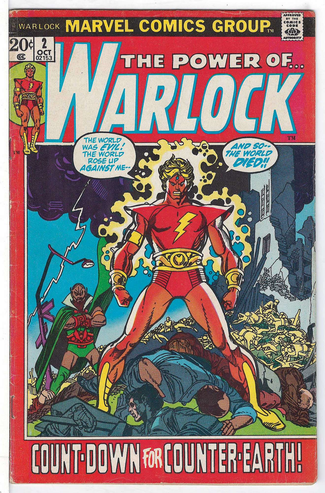 Cover of Warlock (Vol 1) The Power of #2. One of 250,000 Vintage American Comics on sale from Krypton!