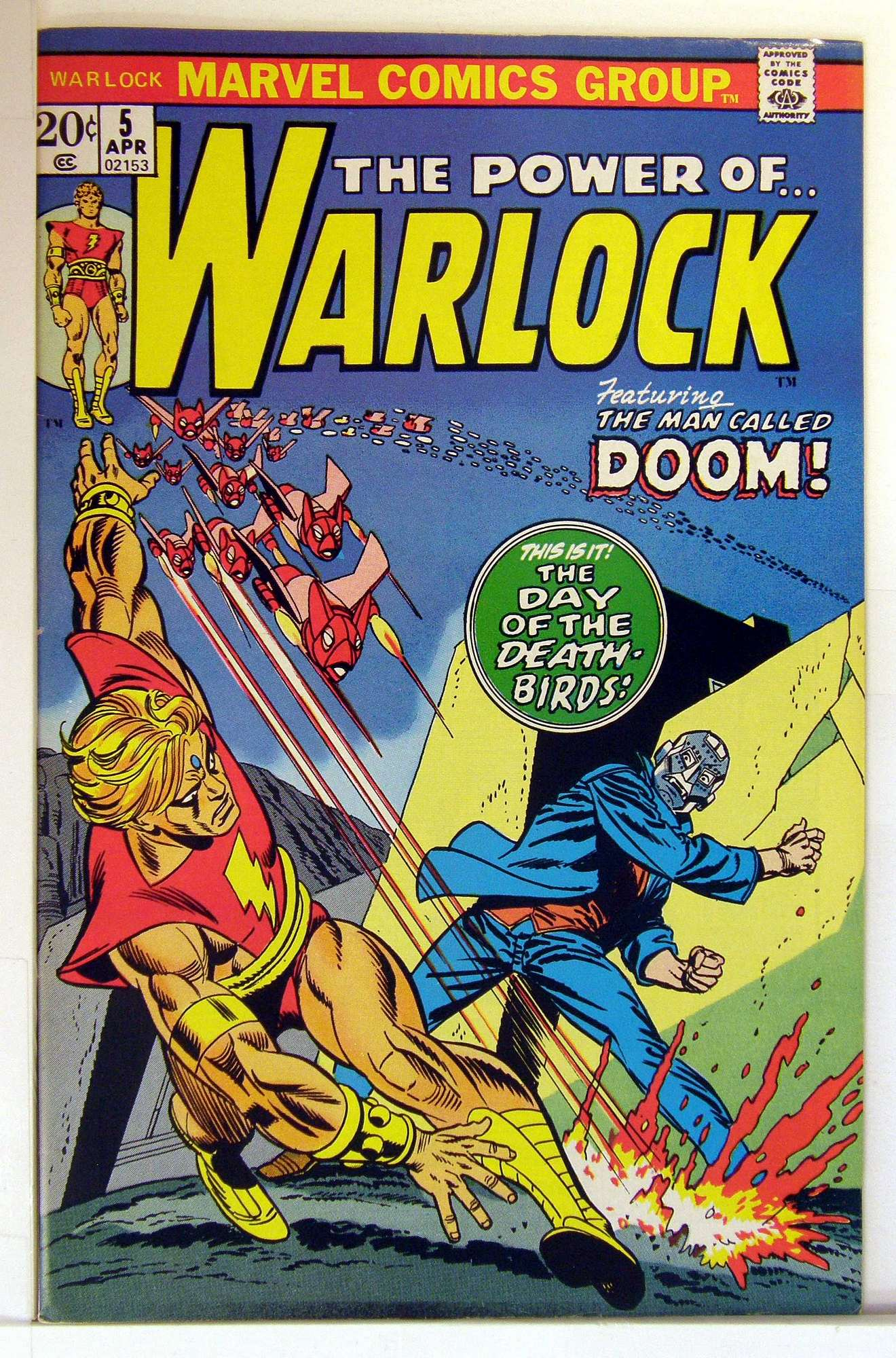 Cover of Warlock (Vol 1) The Power of #5. One of 250,000 Vintage American Comics on sale from Krypton!