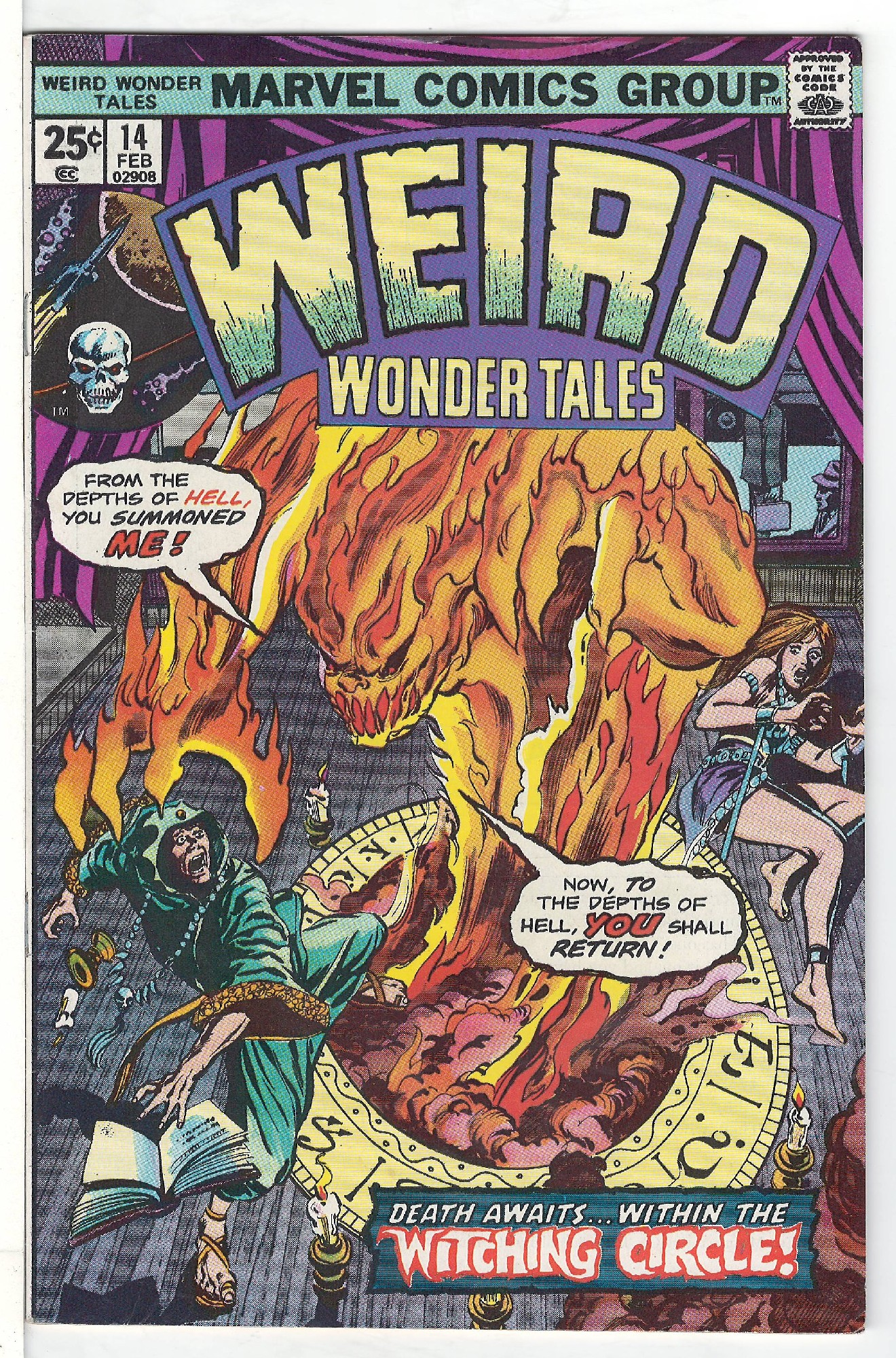 Cover of Weird Wonder Tales (Vol 1) #14. One of 250,000 Vintage American Comics on sale from Krypton!