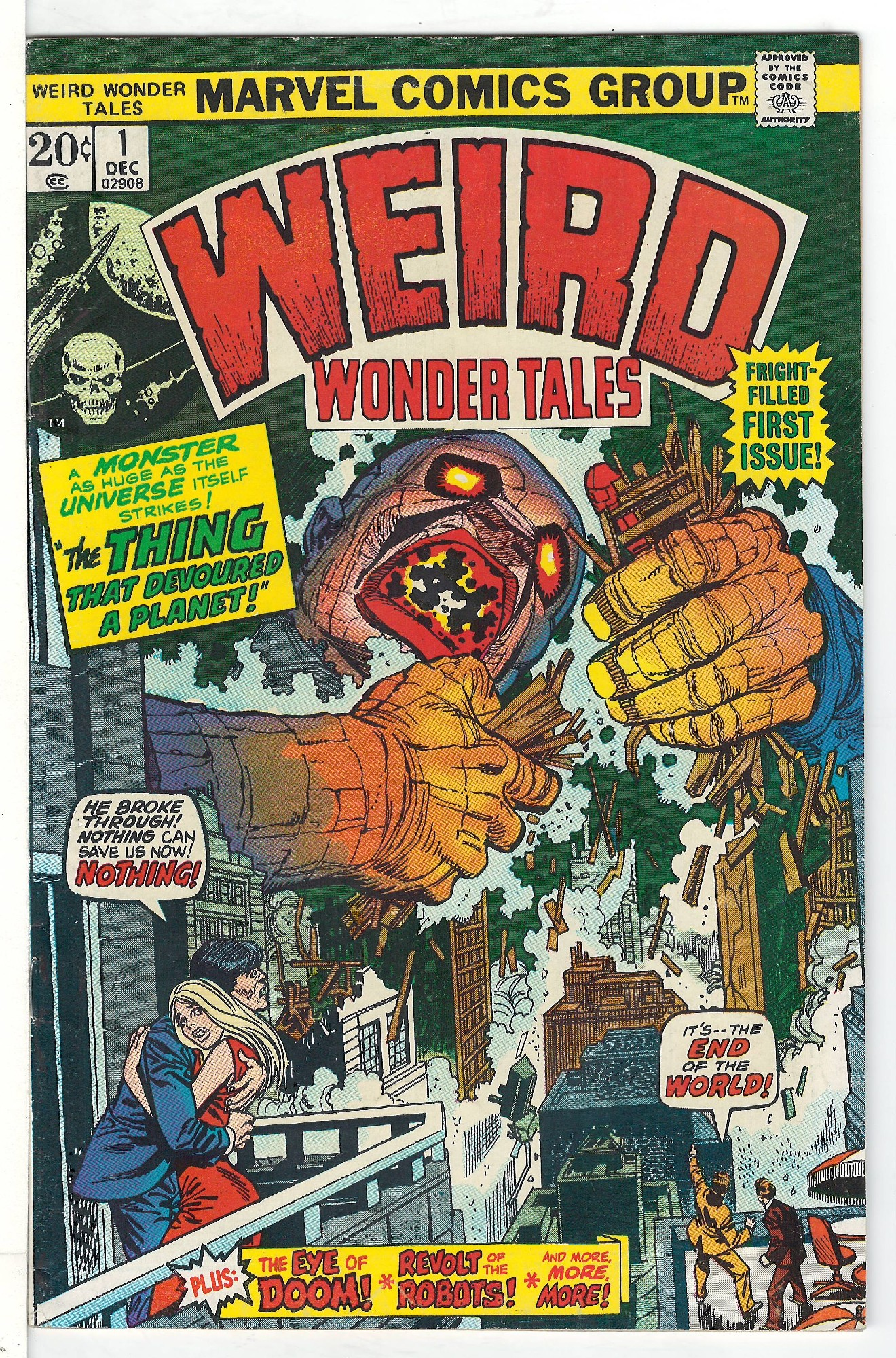 Cover of Weird Wonder Tales (Vol 1) #1. One of 250,000 Vintage American Comics on sale from Krypton!