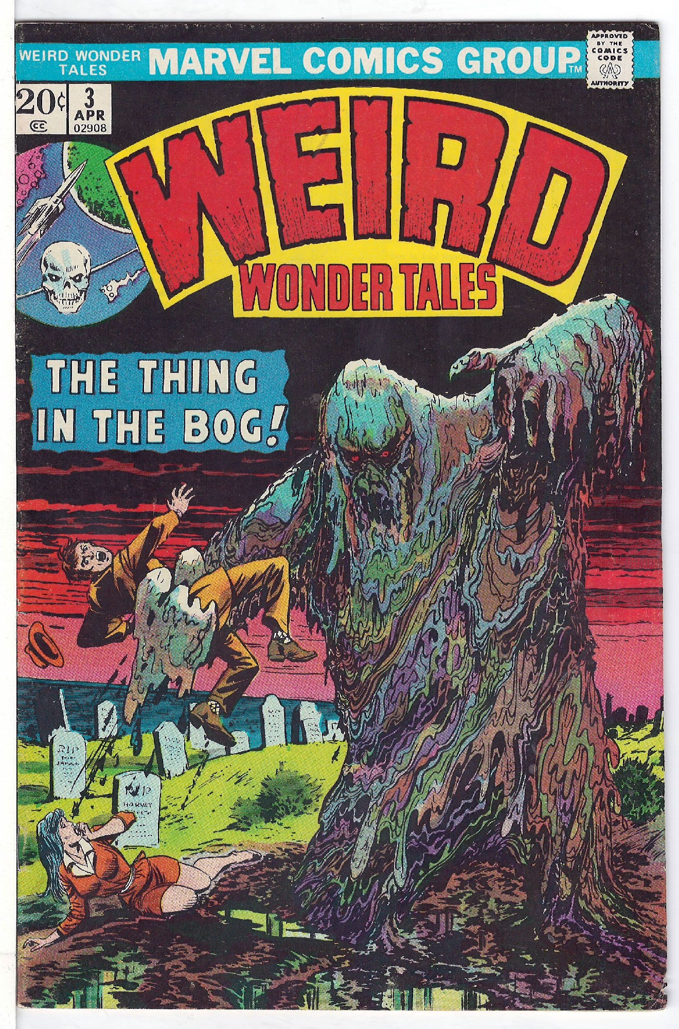 Cover of Weird Wonder Tales (Vol 1) #3. One of 250,000 Vintage American Comics on sale from Krypton!