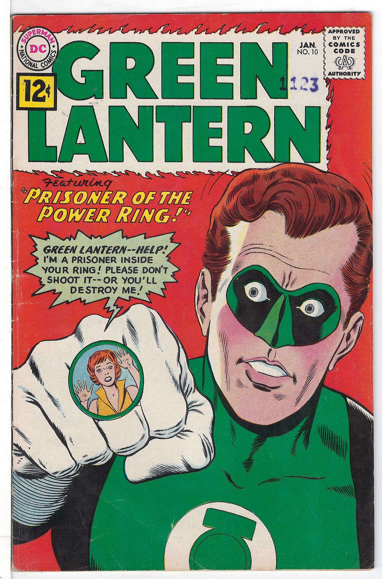 Cover of Green Lantern (Vol 2) #10. One of 250,000 Vintage American Comics on sale from Krypton!