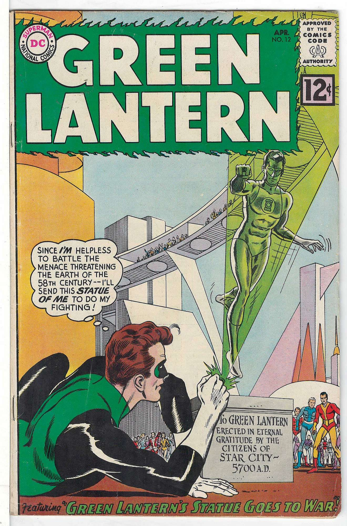 Cover of Green Lantern (Vol 2) #12. One of 250,000 Vintage American Comics on sale from Krypton!