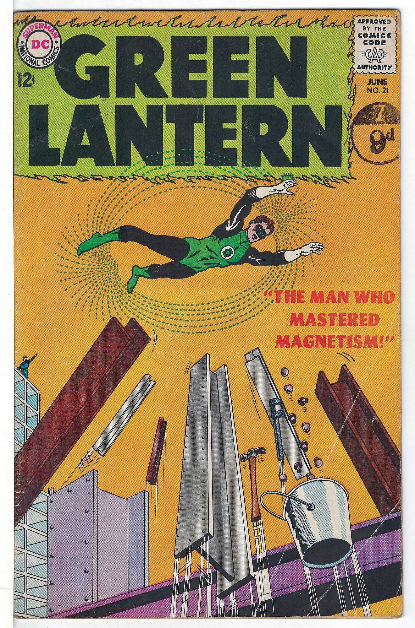 Cover of Green Lantern (Vol 2) #21. One of 250,000 Vintage American Comics on sale from Krypton!