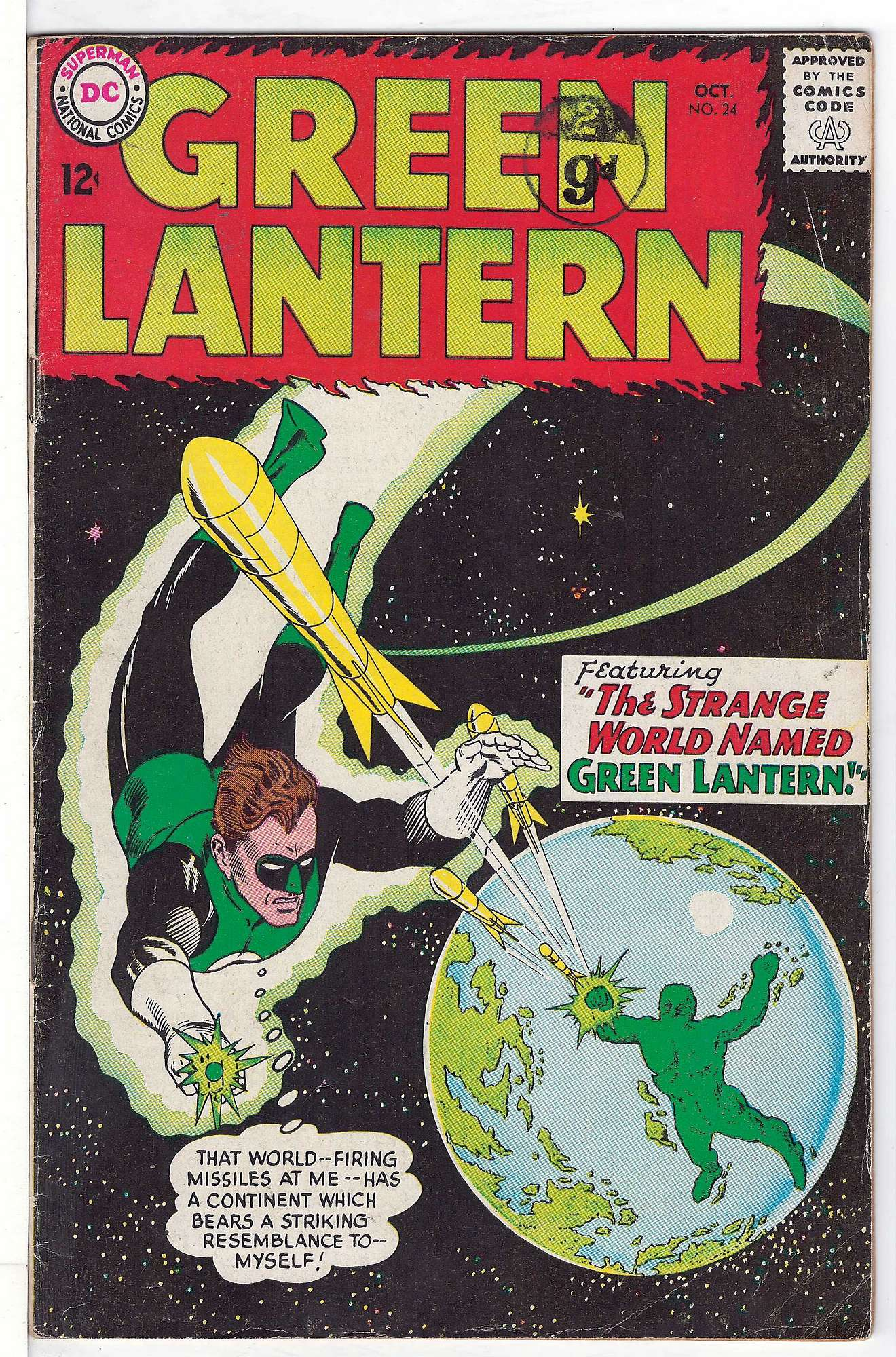 Cover of Green Lantern (Vol 2) #24. One of 250,000 Vintage American Comics on sale from Krypton!