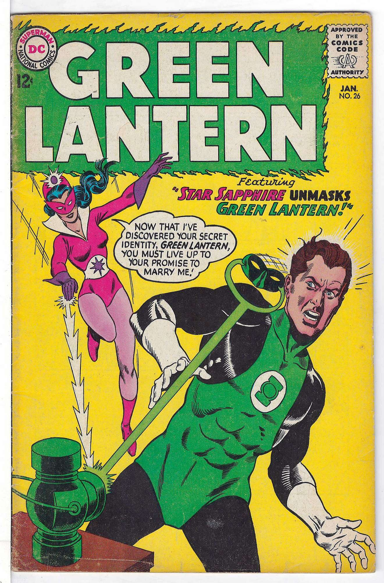 Cover of Green Lantern (Vol 2) #26. One of 250,000 Vintage American Comics on sale from Krypton!