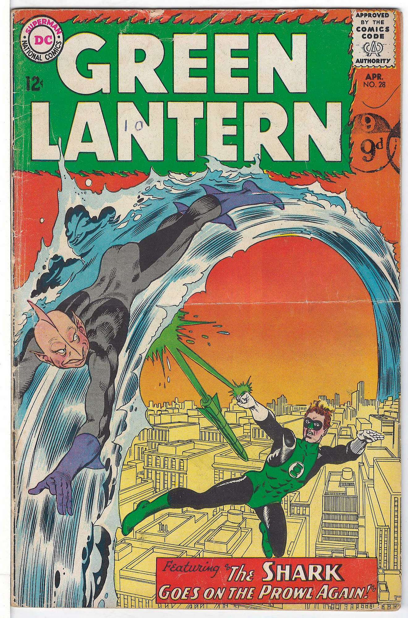Cover of Green Lantern (Vol 2) #28. One of 250,000 Vintage American Comics on sale from Krypton!