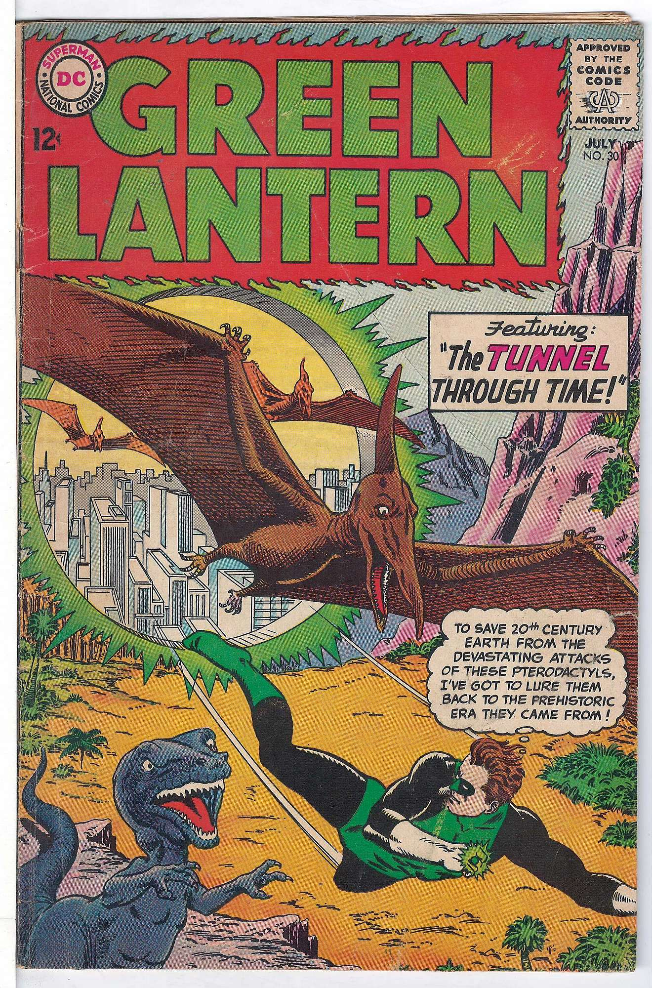 Cover of Green Lantern (Vol 2) #30. One of 250,000 Vintage American Comics on sale from Krypton!