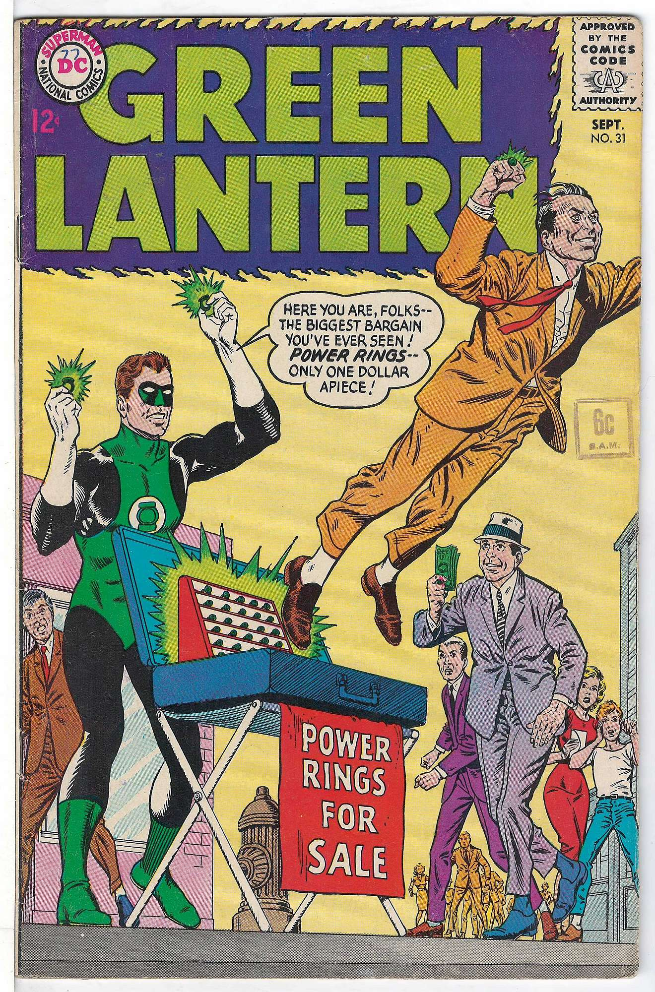 Cover of Green Lantern (Vol 2) #31. One of 250,000 Vintage American Comics on sale from Krypton!