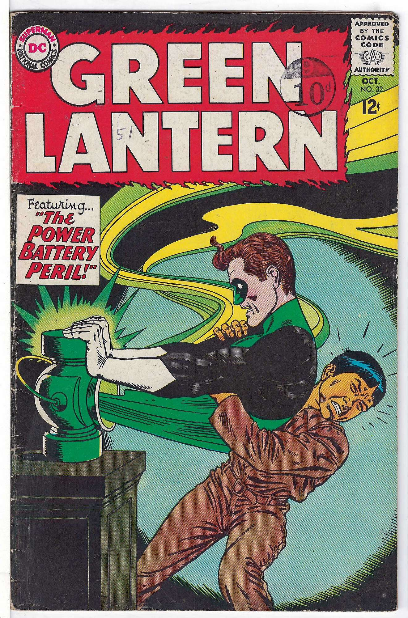 Cover of Green Lantern (Vol 2) #32. One of 250,000 Vintage American Comics on sale from Krypton!