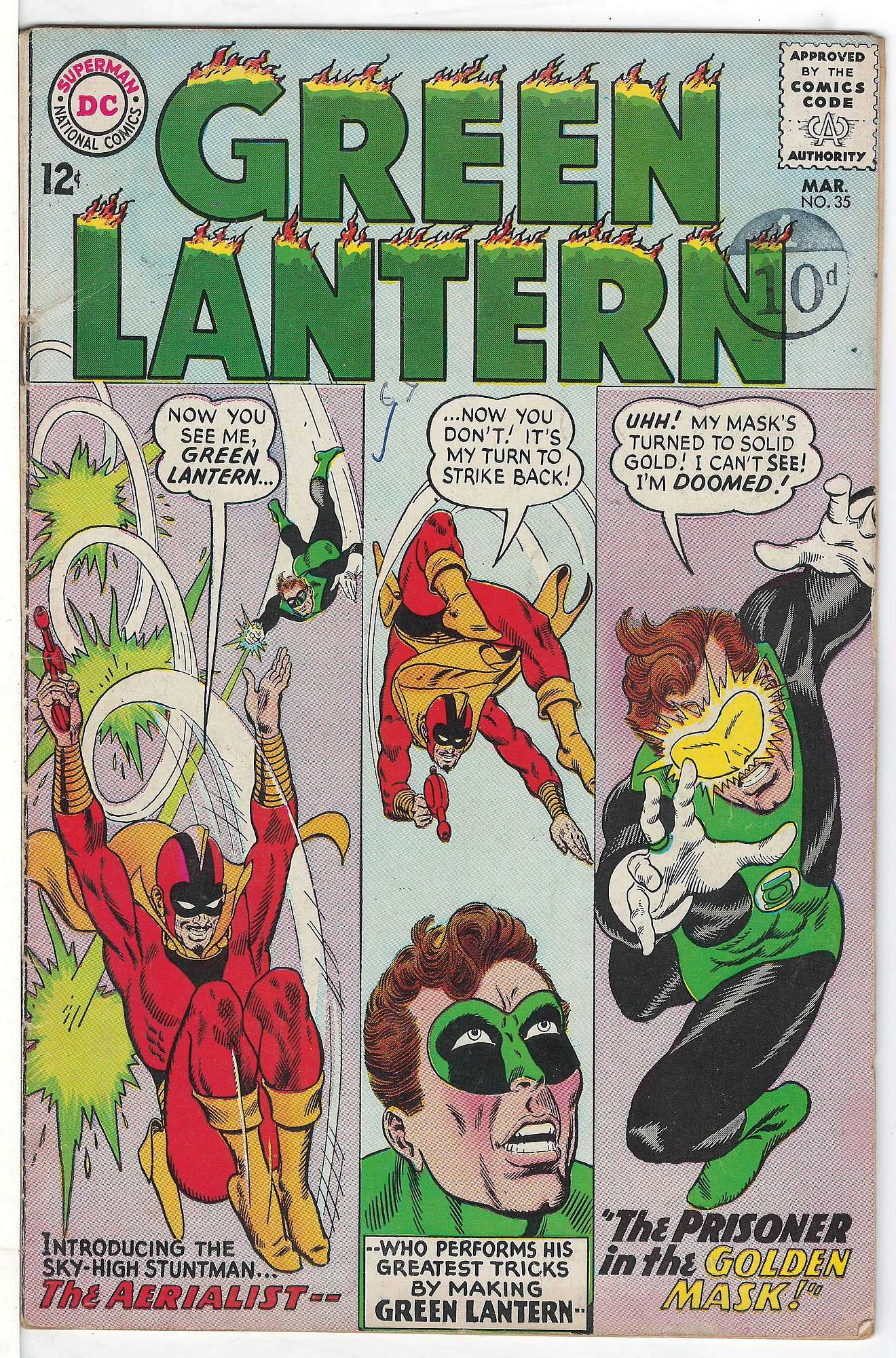 Cover of Green Lantern (Vol 2) #35. One of 250,000 Vintage American Comics on sale from Krypton!