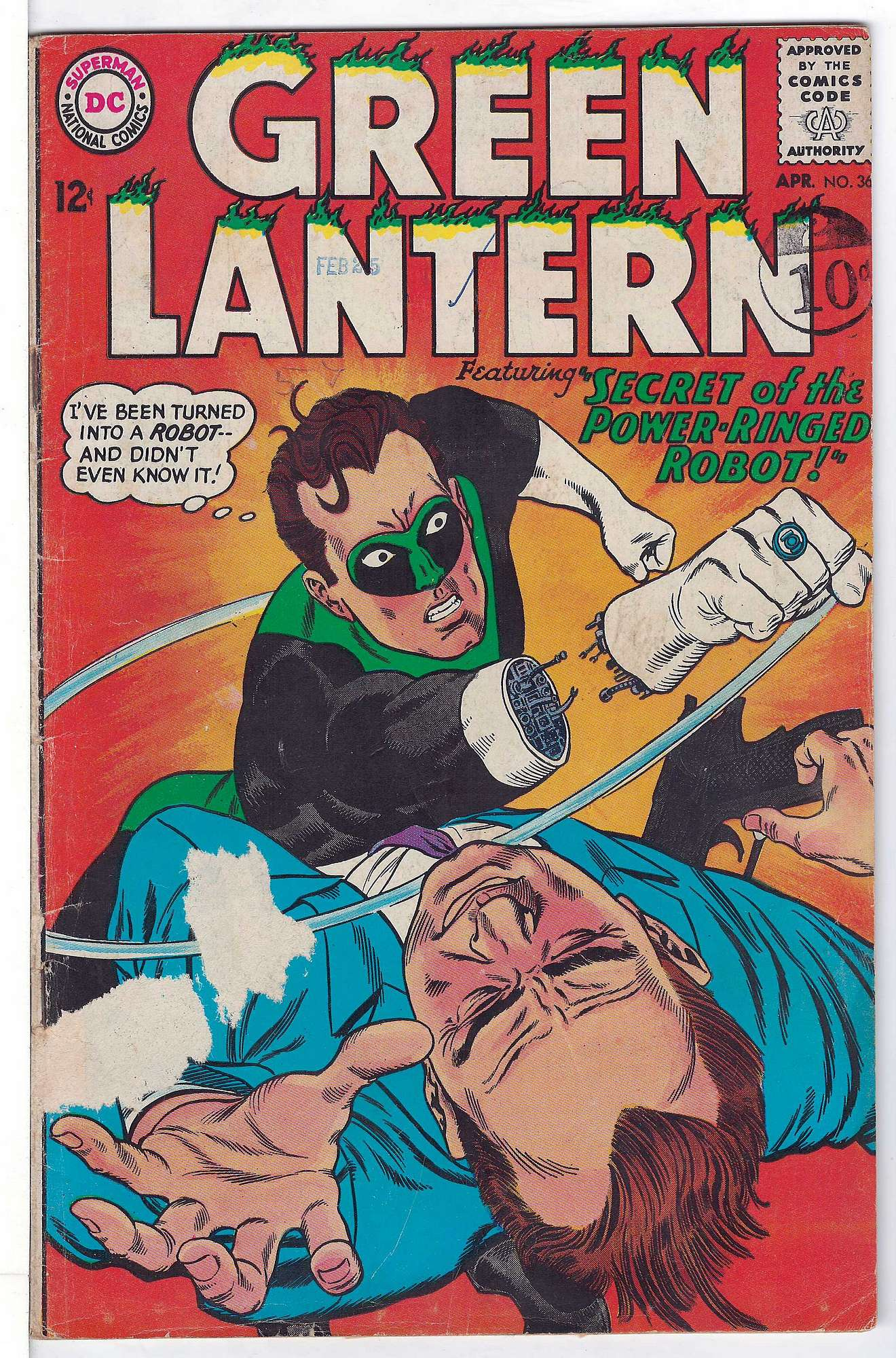 Cover of Green Lantern (Vol 2) #36. One of 250,000 Vintage American Comics on sale from Krypton!
