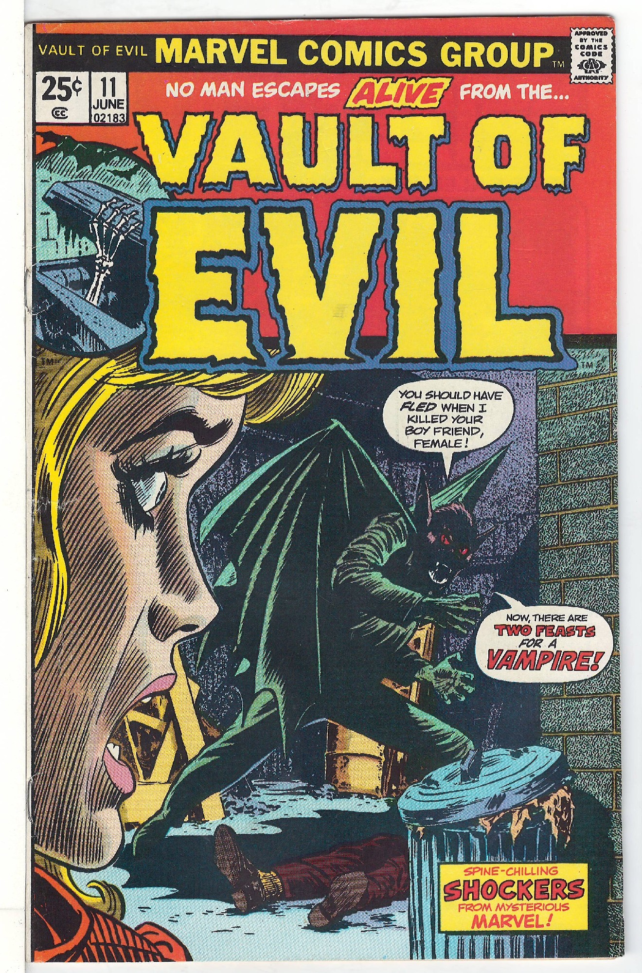 Cover of Vault of Evil #11. One of 250,000 Vintage American Comics on sale from Krypton!