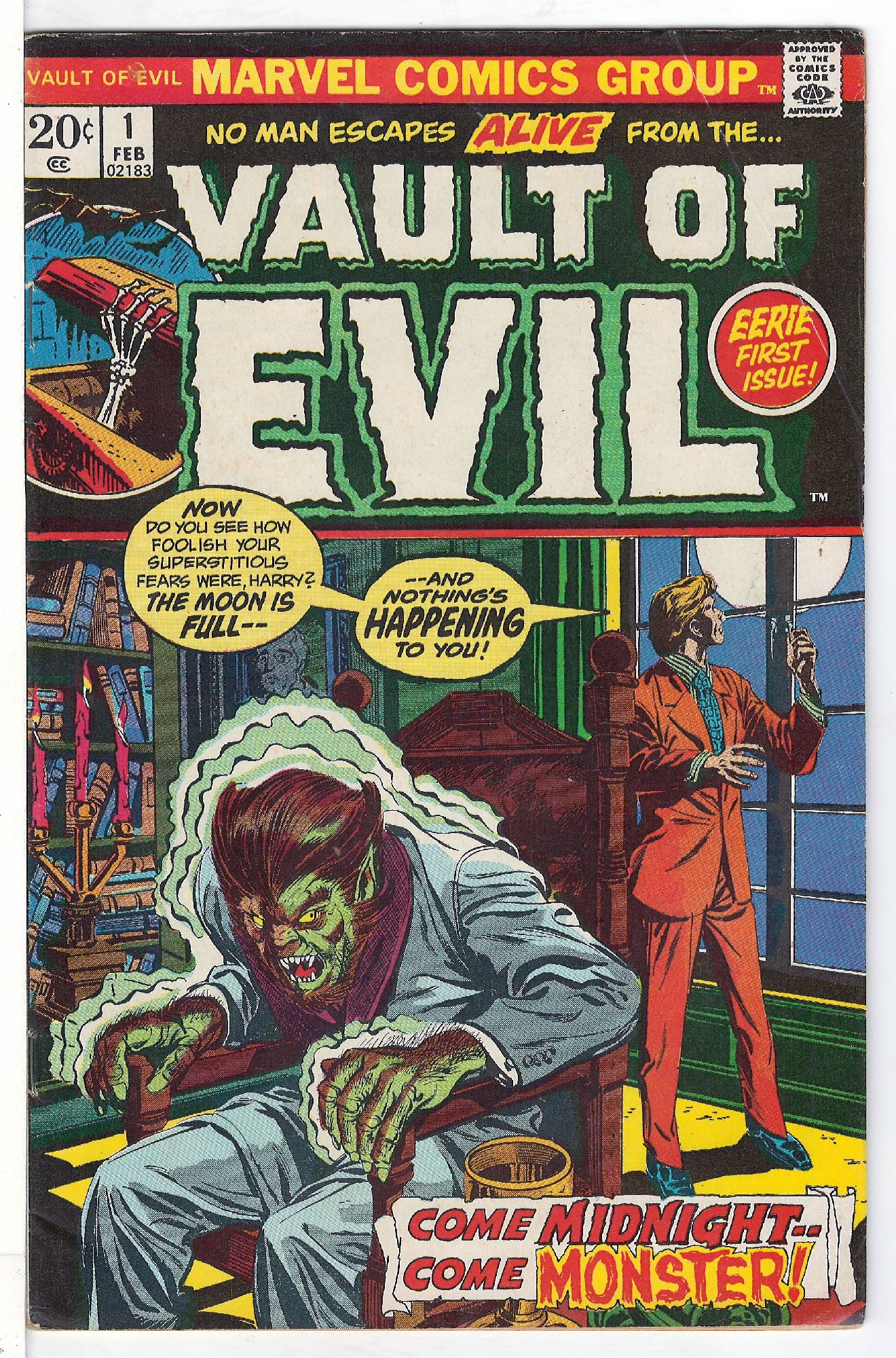 Cover of Vault of Evil #1. One of 250,000 Vintage American Comics on sale from Krypton!