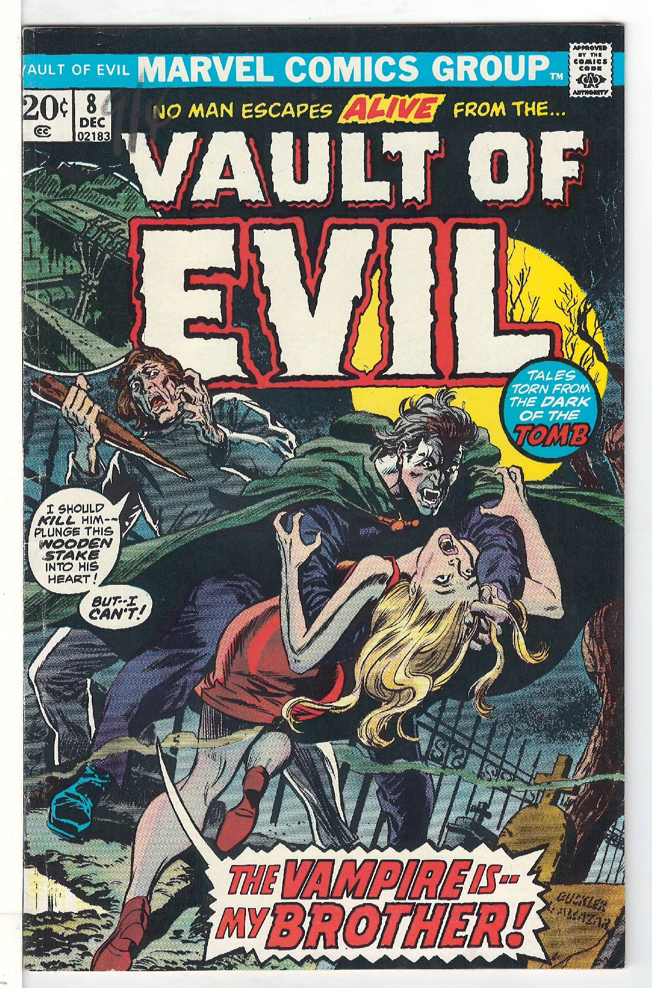 Cover of Vault of Evil #8. One of 250,000 Vintage American Comics on sale from Krypton!