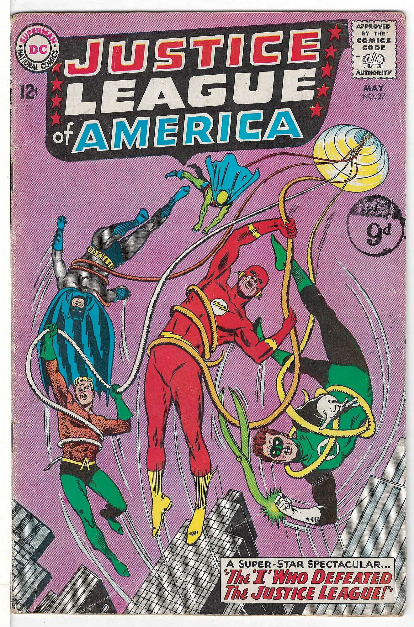 Cover of Justice League of America (Vol 1) #27. One of 250,000 Vintage American Comics on sale from Krypton!