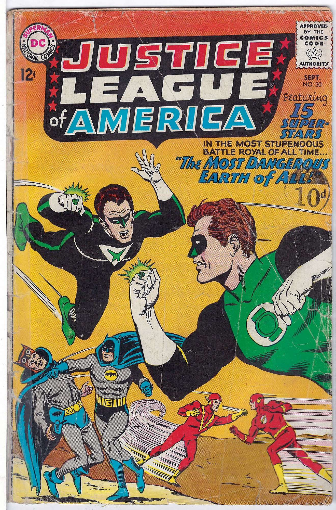 Cover of Justice League of America (Vol 1) #30. One of 250,000 Vintage American Comics on sale from Krypton!