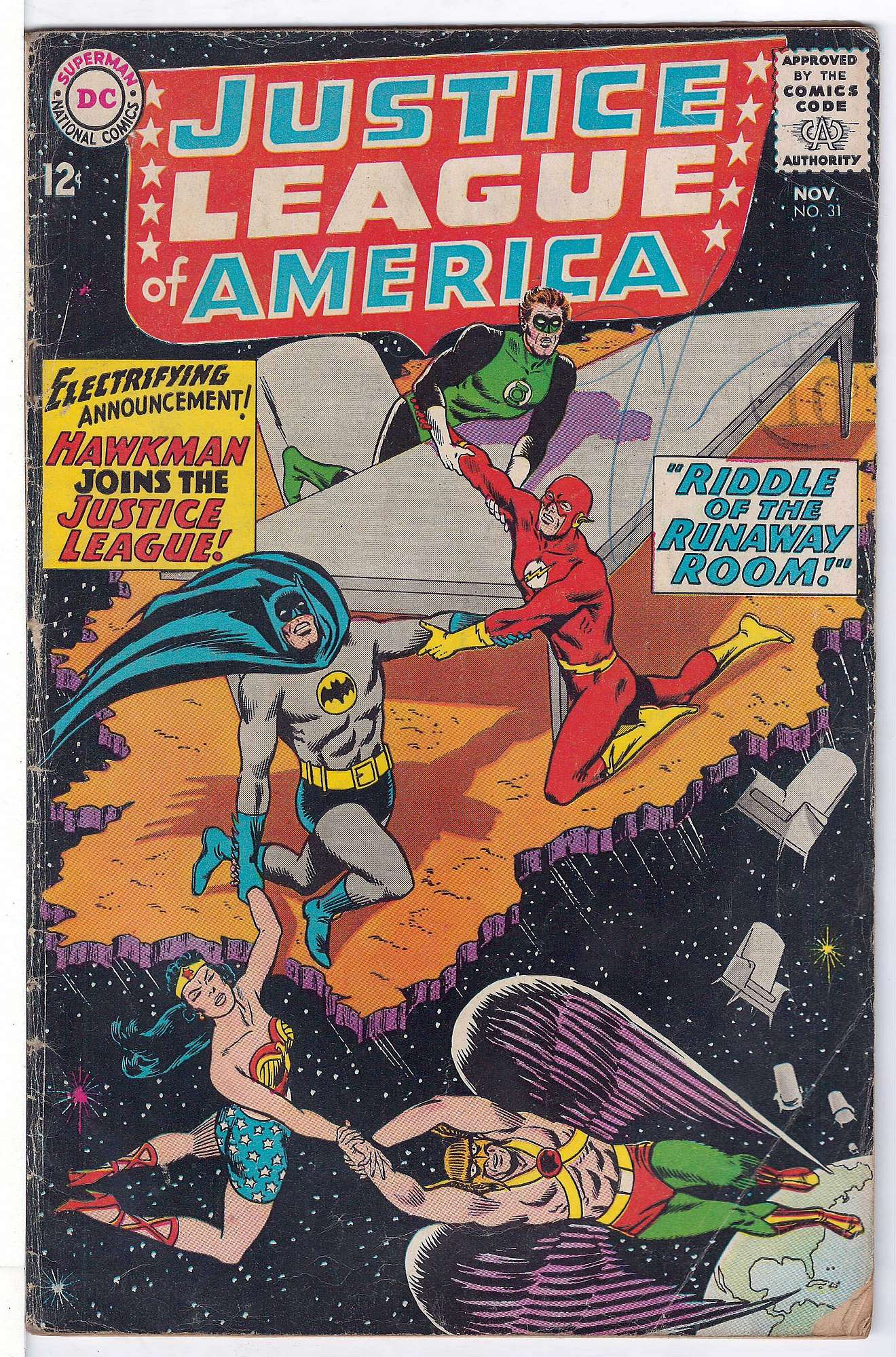 Cover of Justice League of America (Vol 1) #31. One of 250,000 Vintage American Comics on sale from Krypton!
