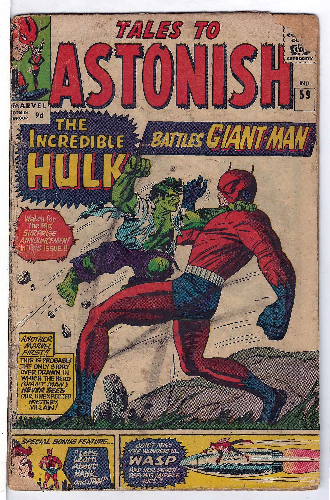 Cover of Tales to Astonish (Vol 1) #59. One of 250,000 Vintage American Comics on sale from Krypton!