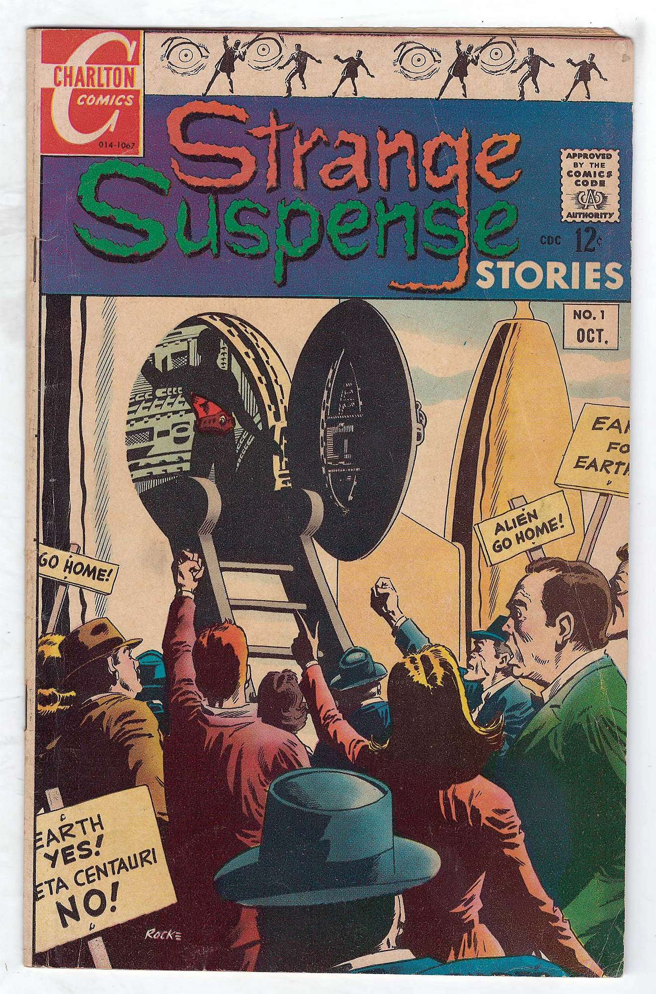 Cover of Strange Suspense Stories (Vol 3) #1. One of 250,000 Vintage American Comics on sale from Krypton!