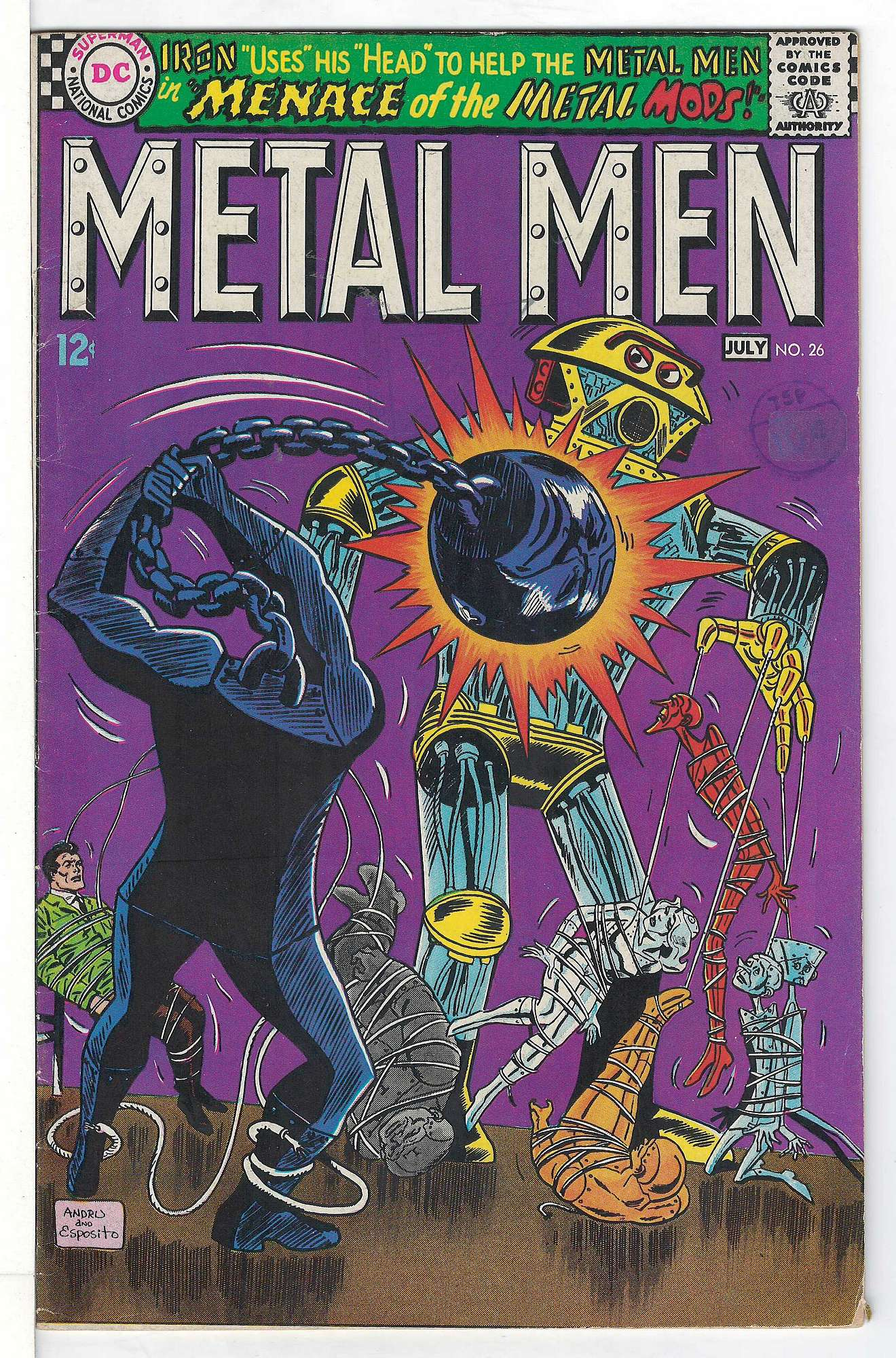 Cover of Metal Men (Vol 1) #26. One of 250,000 Vintage American Comics on sale from Krypton!
