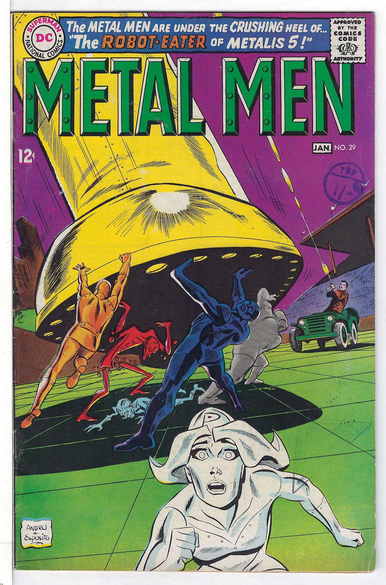 Cover of Metal Men (Vol 1) #29. One of 250,000 Vintage American Comics on sale from Krypton!