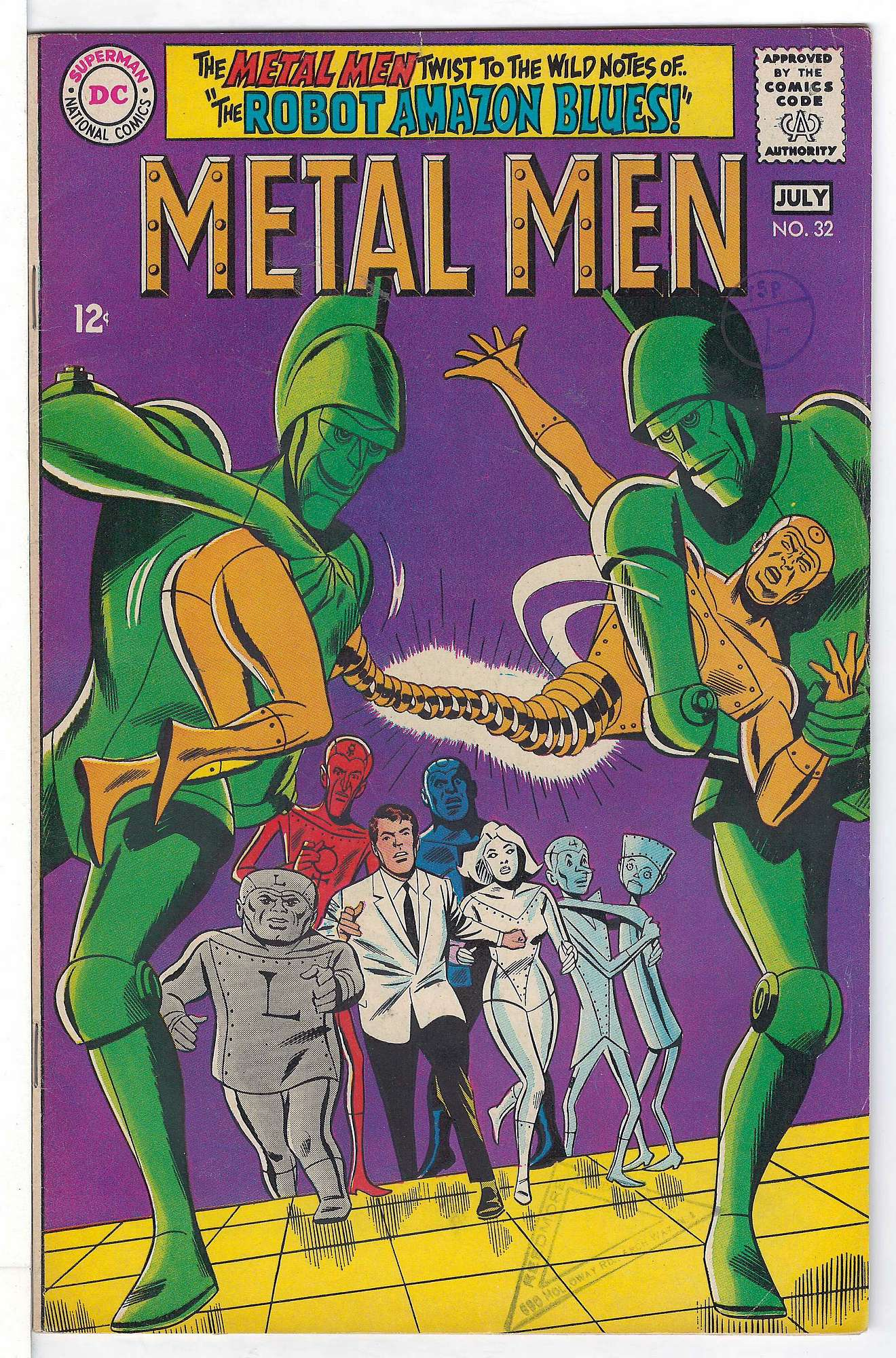 Cover of Metal Men (Vol 1) #32. One of 250,000 Vintage American Comics on sale from Krypton!
