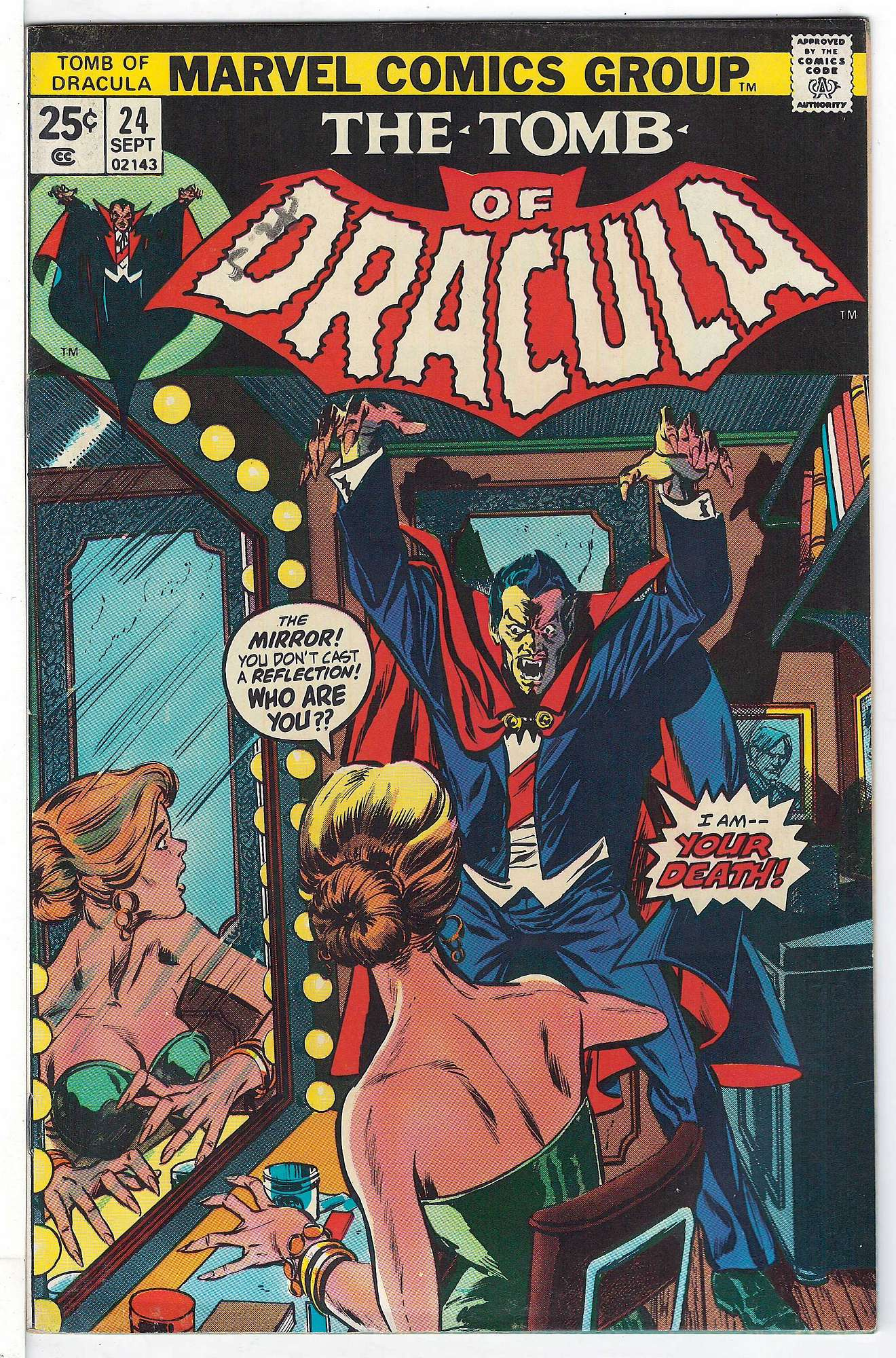 Cover of Tomb of Dracula (Vol 1) #24. One of 250,000 Vintage American Comics on sale from Krypton!