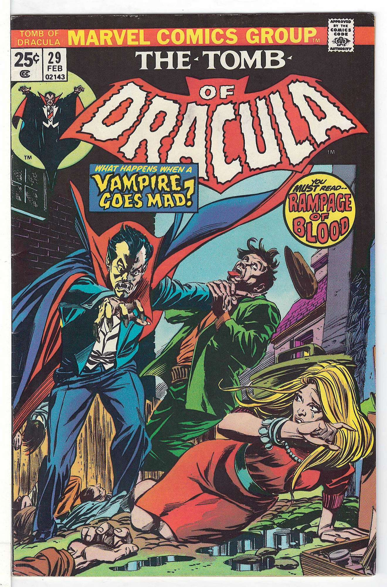 Cover of Tomb of Dracula (Vol 1) #29. One of 250,000 Vintage American Comics on sale from Krypton!