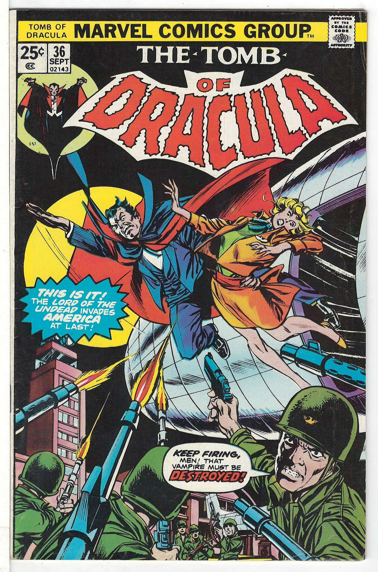 Cover of Tomb of Dracula (Vol 1) #36. One of 250,000 Vintage American Comics on sale from Krypton!