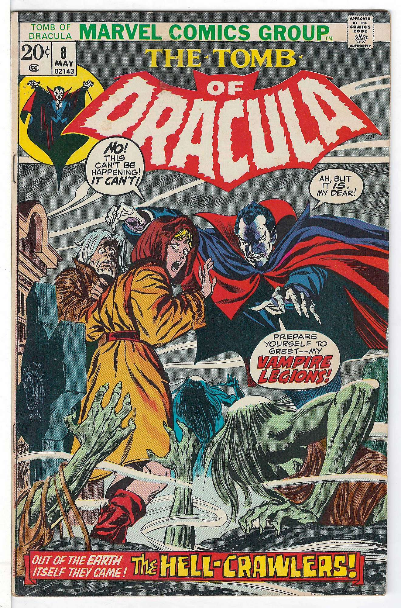 Cover of Tomb of Dracula (Vol 1) #8. One of 250,000 Vintage American Comics on sale from Krypton!