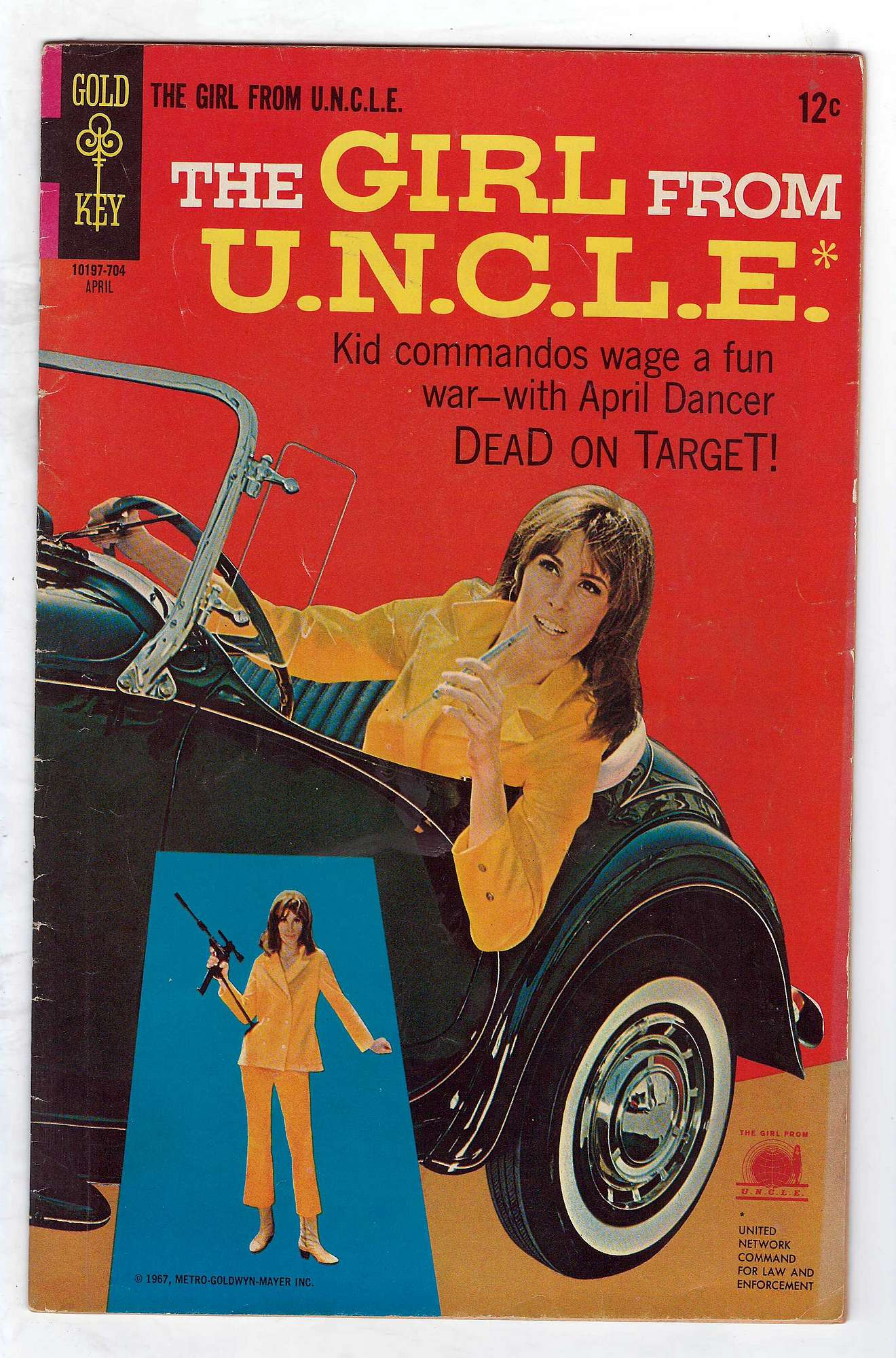Cover of Girl From U.N.C.L.E. #2. One of 250,000 Vintage American Comics on sale from Krypton!
