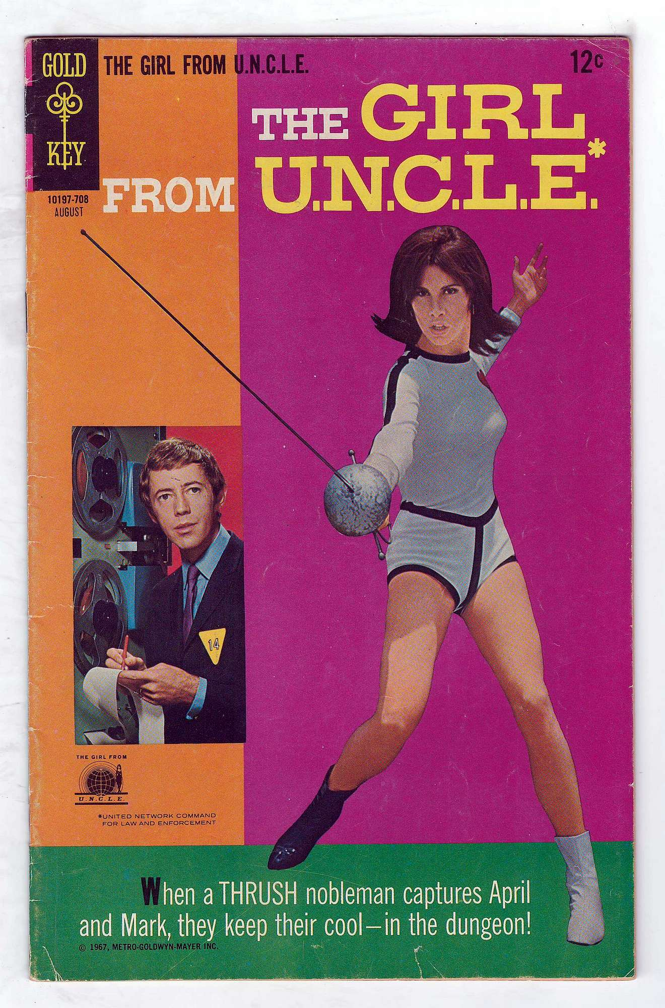 Cover of Girl From U.N.C.L.E. #4. One of 250,000 Vintage American Comics on sale from Krypton!