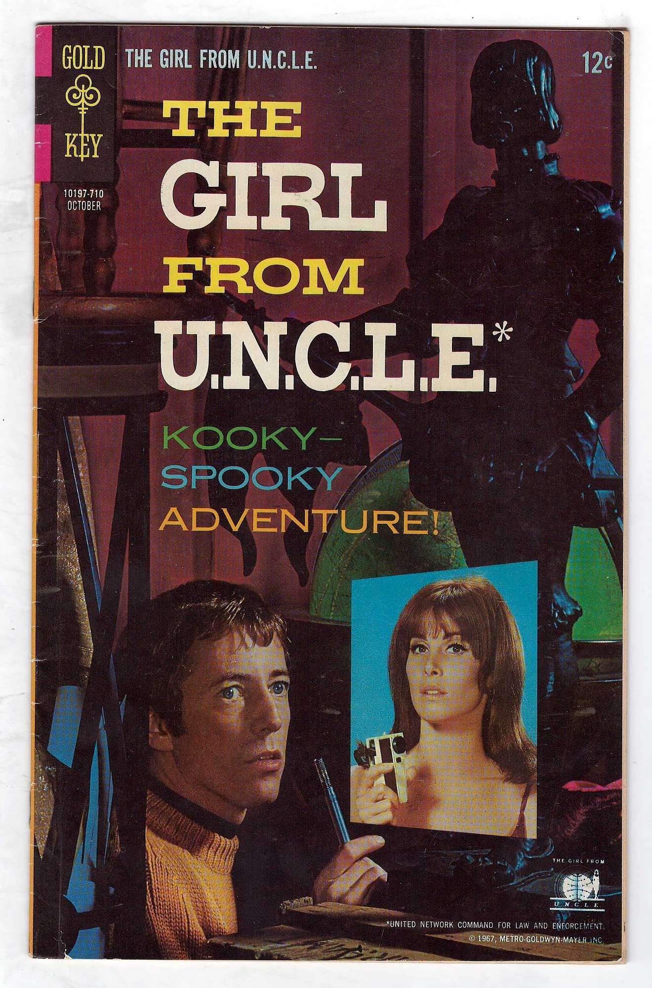 Cover of Girl From U.N.C.L.E. #5. One of 250,000 Vintage American Comics on sale from Krypton!