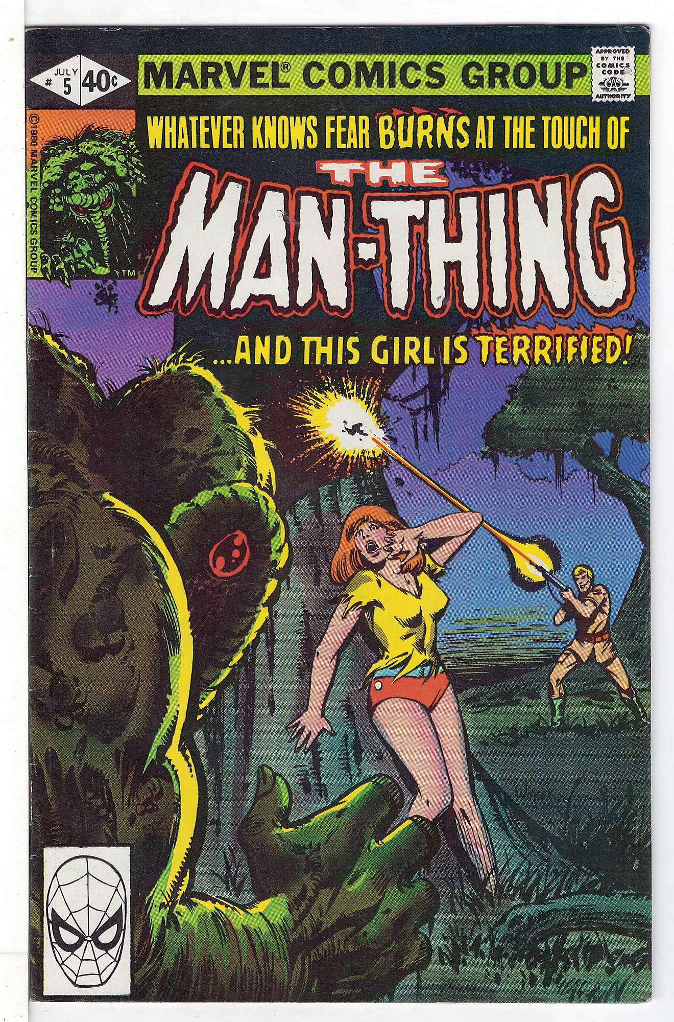 Cover of Man-Thing (Vol 2) #5. One of 250,000 Vintage American Comics on sale from Krypton!