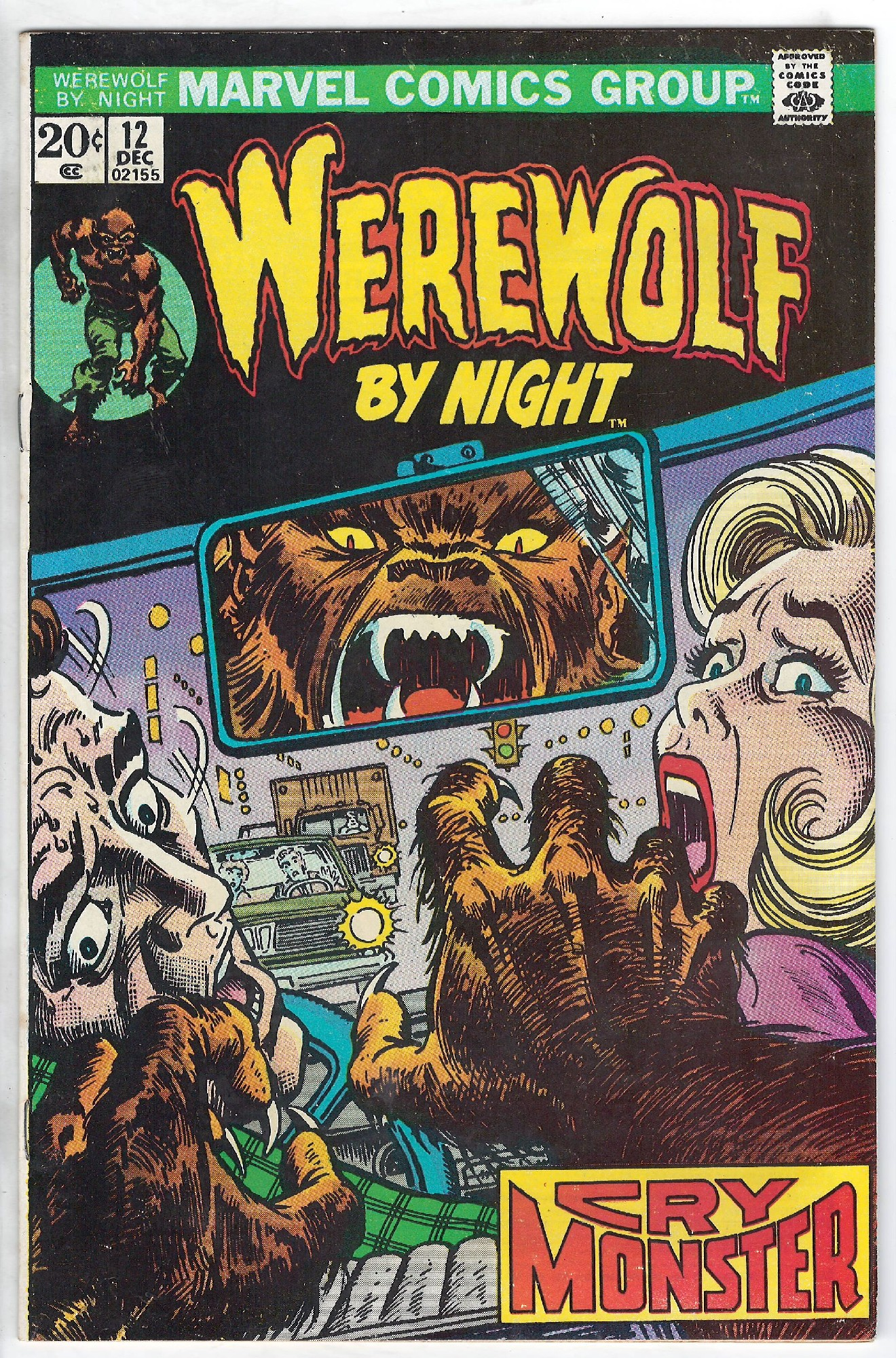 Cover of Werewolf by Night (Vol 1) #12. One of 250,000 Vintage American Comics on sale from Krypton!