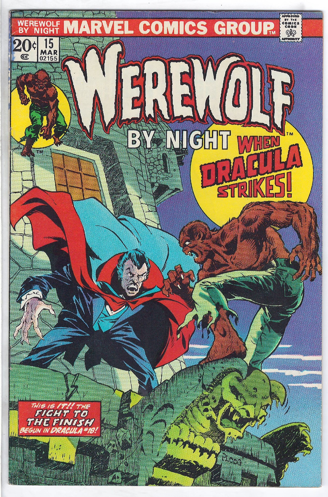Cover of Werewolf by Night (Vol 1) #15. One of 250,000 Vintage American Comics on sale from Krypton!