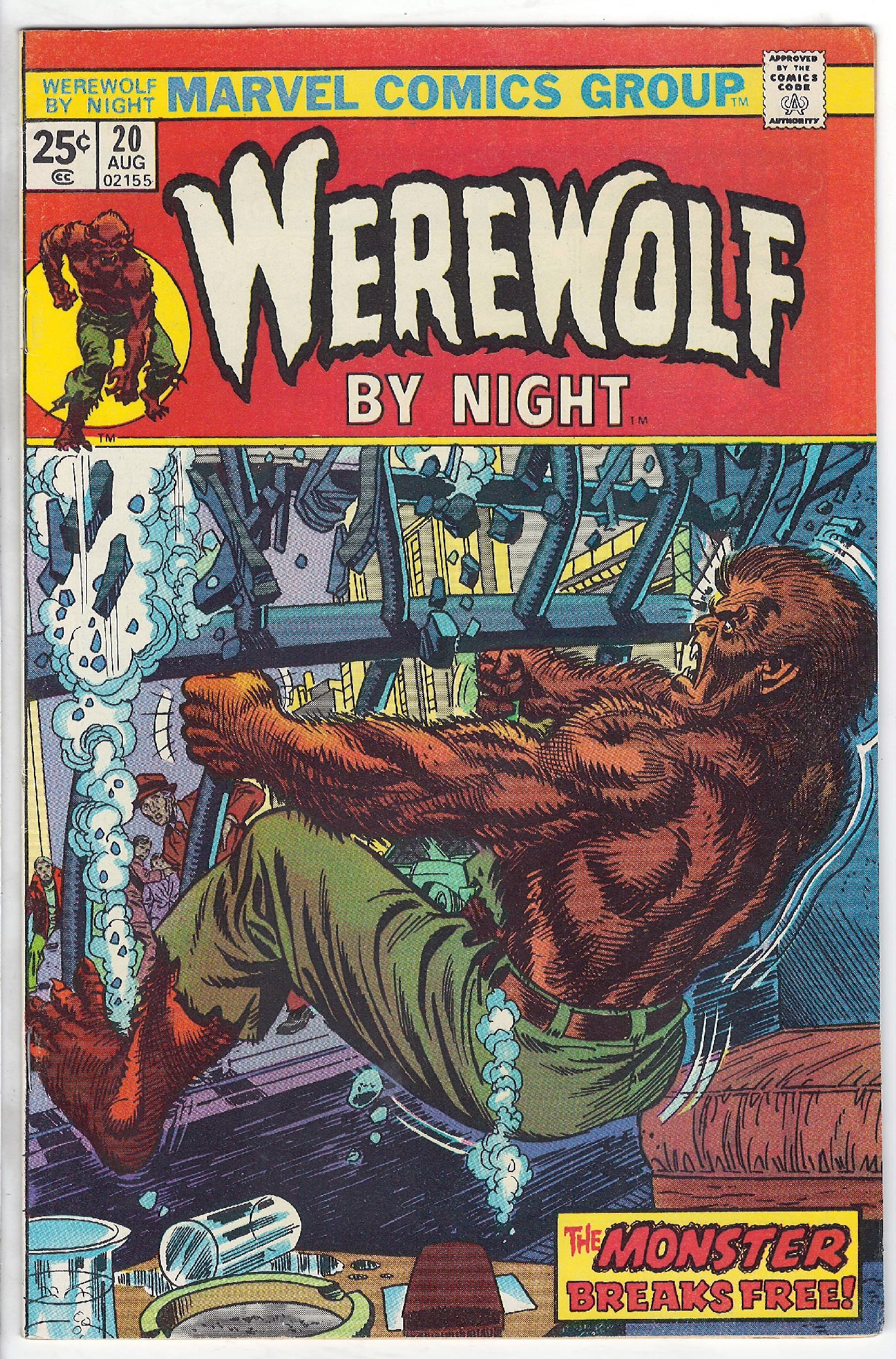 Cover of Werewolf by Night (Vol 1) #20. One of 250,000 Vintage American Comics on sale from Krypton!