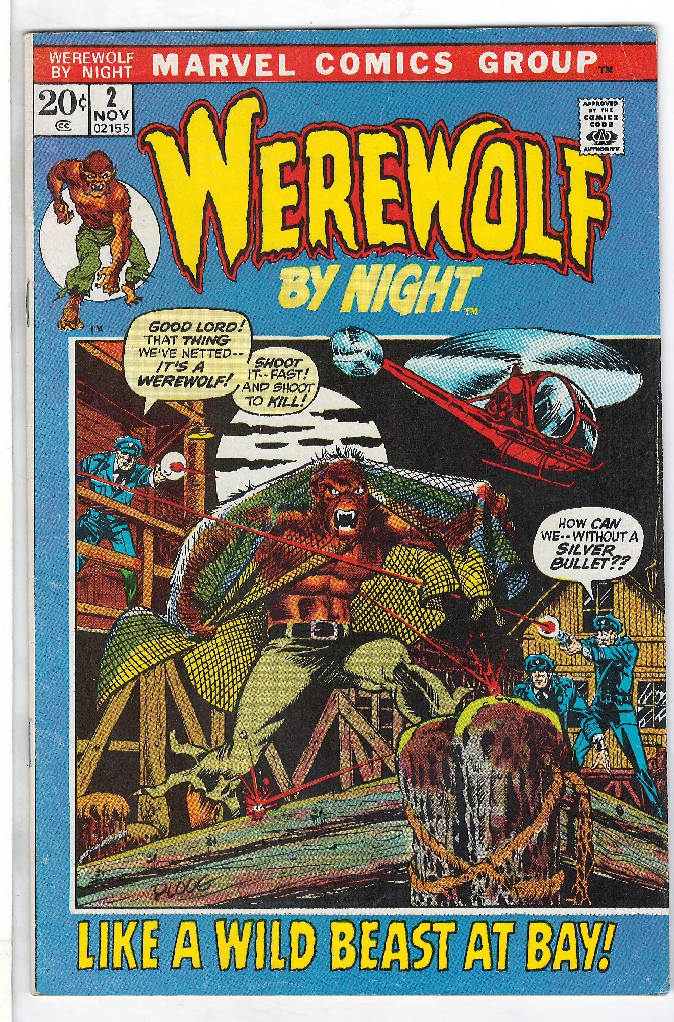 Cover of Werewolf by Night (Vol 1) #2. One of 250,000 Vintage American Comics on sale from Krypton!