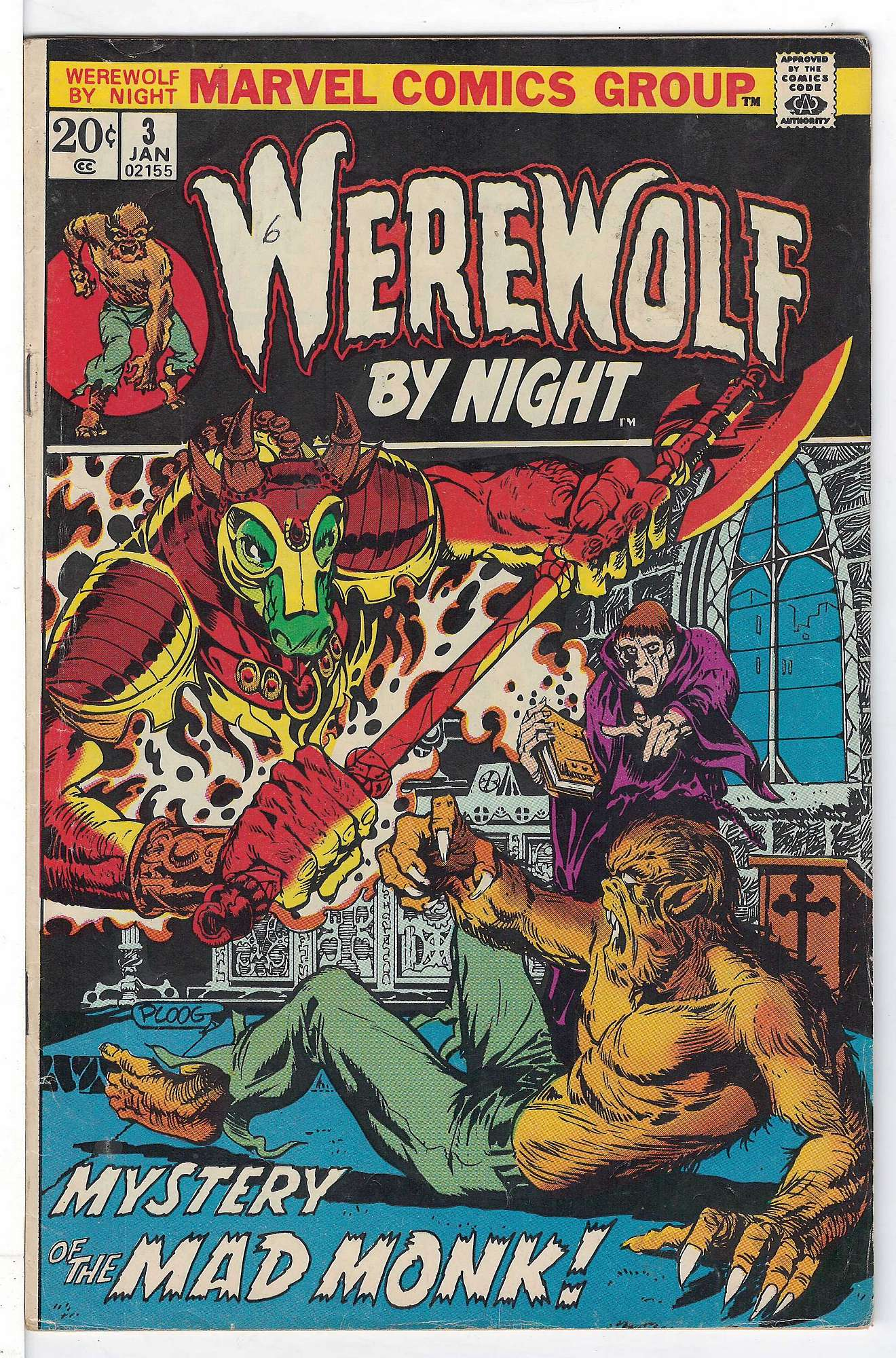 Cover of Werewolf by Night (Vol 1) #3. One of 250,000 Vintage American Comics on sale from Krypton!