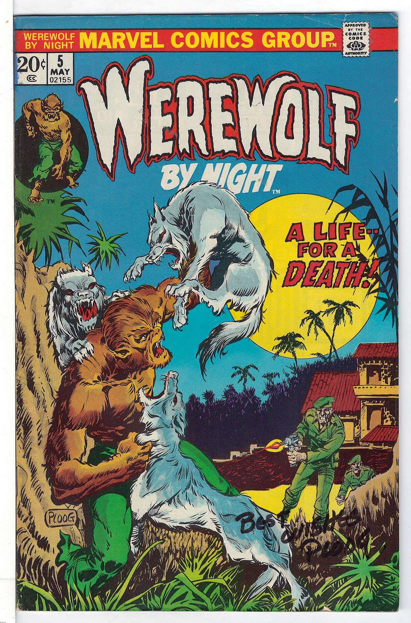 Cover of Werewolf by Night (Vol 1) #5. One of 250,000 Vintage American Comics on sale from Krypton!
