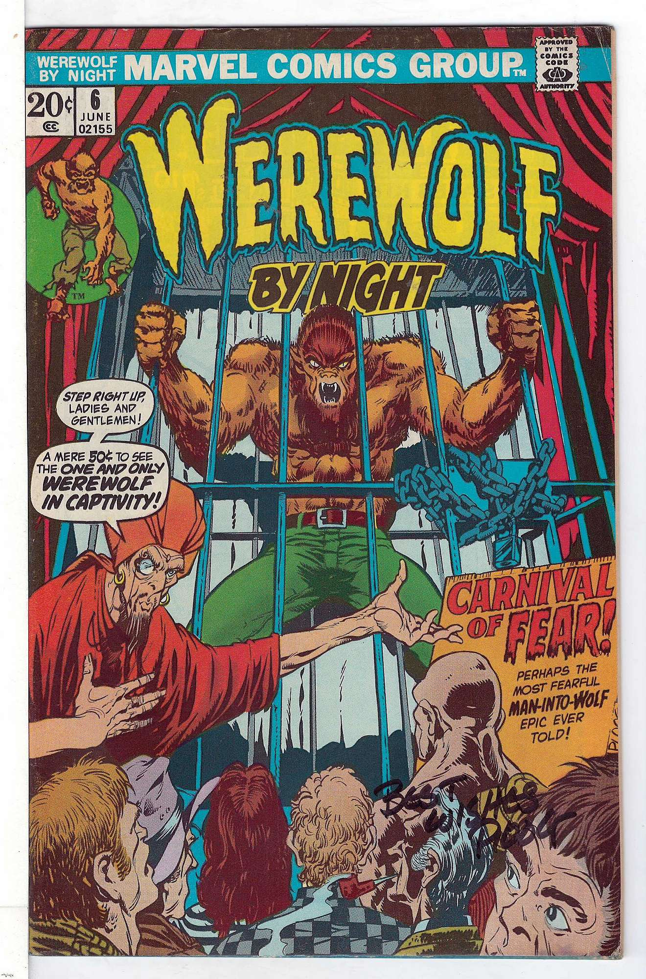 Cover of Werewolf by Night (Vol 1) #6. One of 250,000 Vintage American Comics on sale from Krypton!