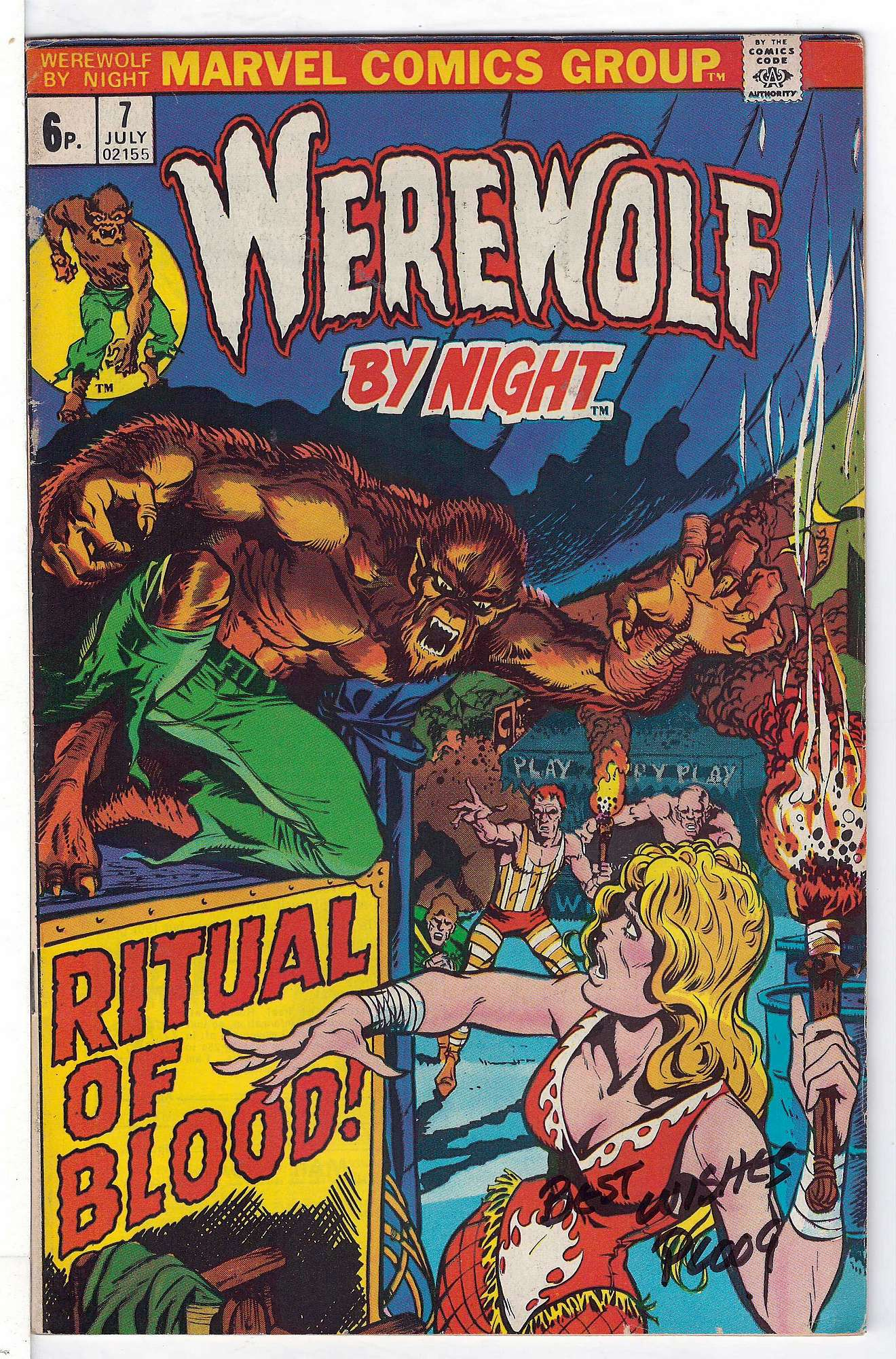 Cover of Werewolf by Night (Vol 1) #7. One of 250,000 Vintage American Comics on sale from Krypton!