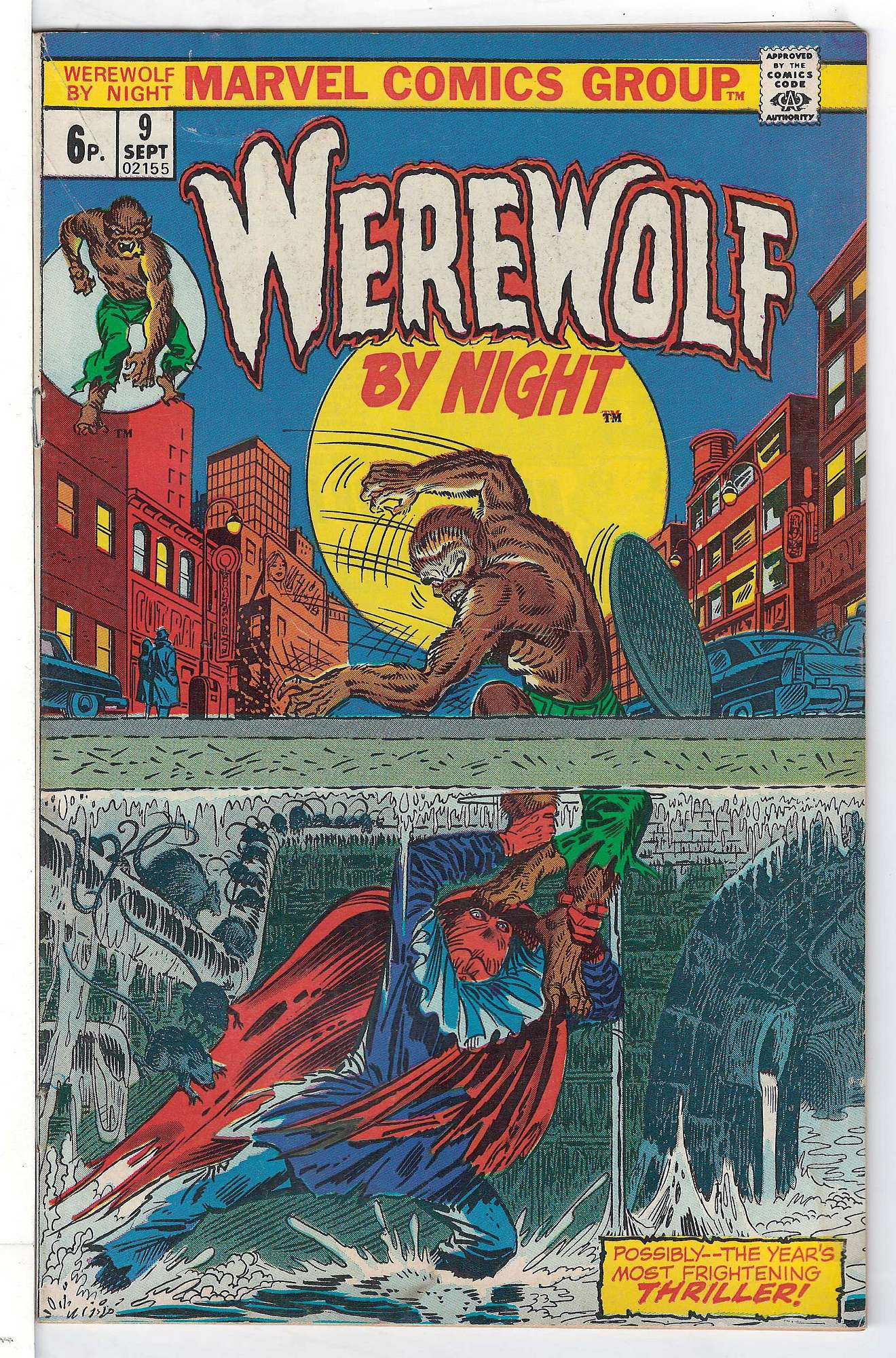 Cover of Werewolf by Night (Vol 1) #9. One of 250,000 Vintage American Comics on sale from Krypton!